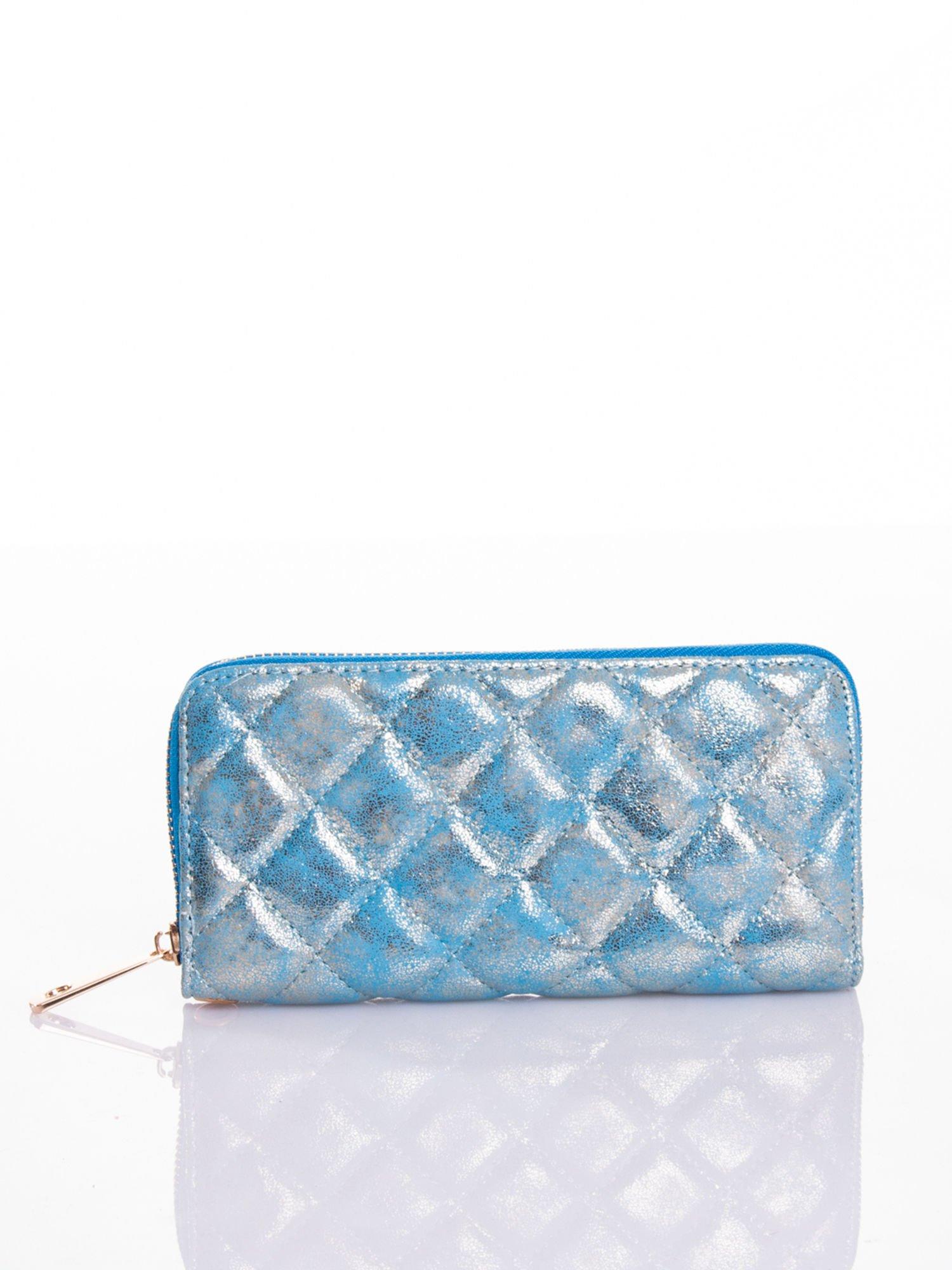 Niebieski pikowany portfel                                  zdj.                                  1