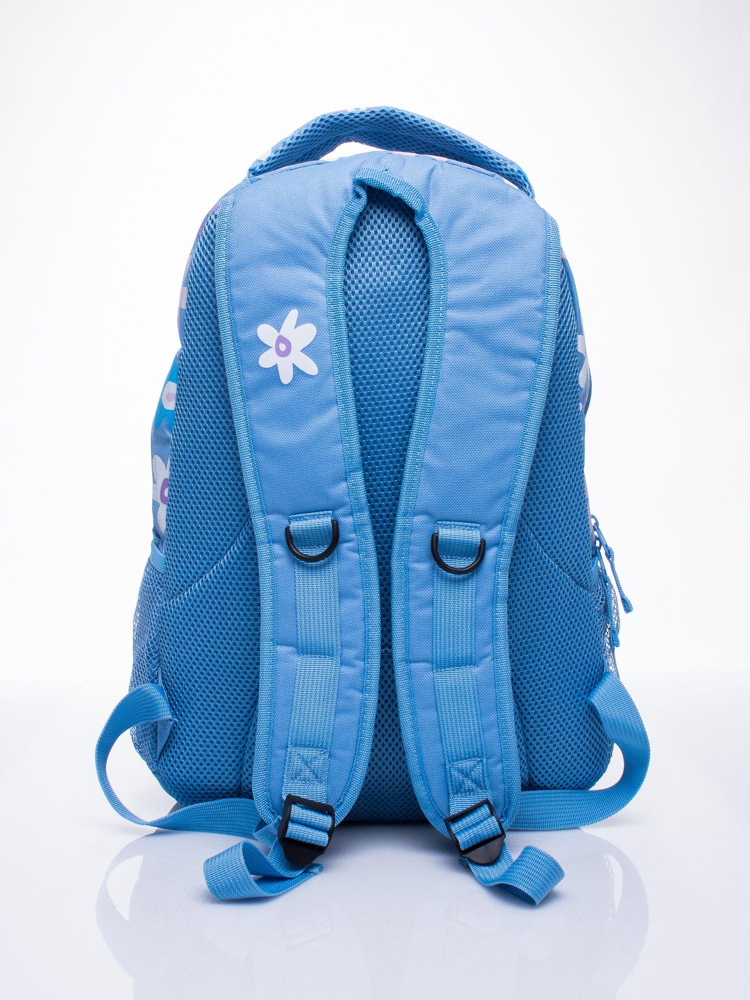 Niebieski plecak dla dziewczynki DISNEY w kwiatki                                  zdj.                                  3