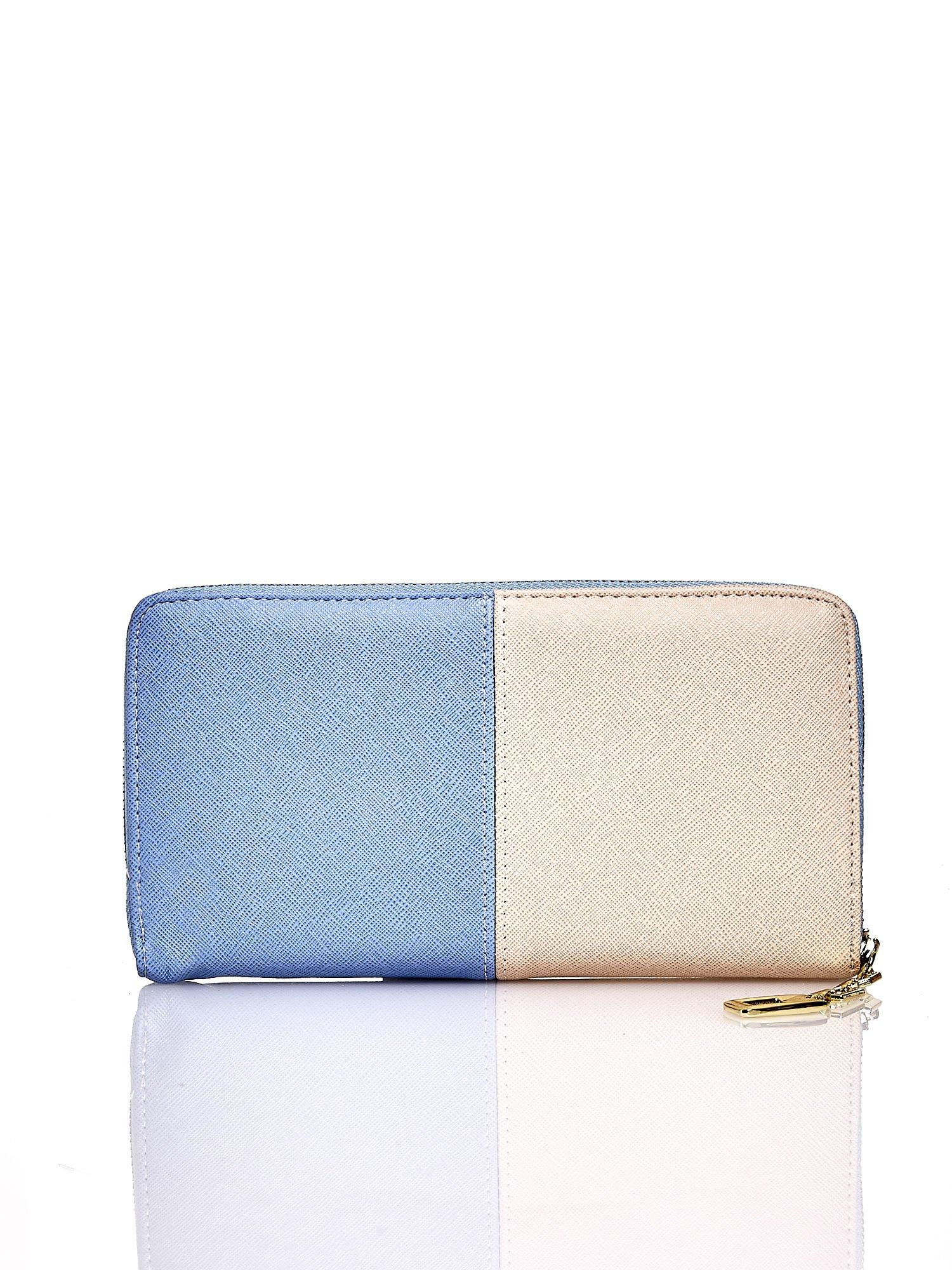 Niebieski portfel two tone z uchwytem                                  zdj.                                  2