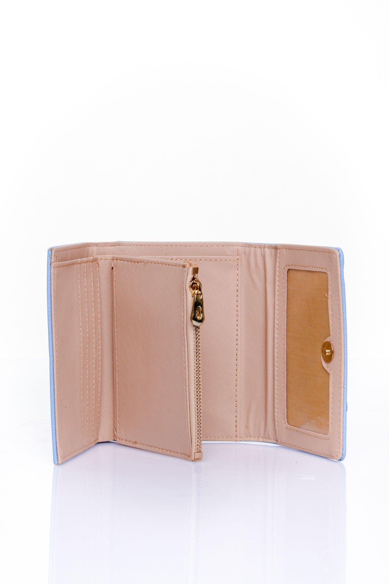 Niebieski portfel z kokardką                                  zdj.                                  5