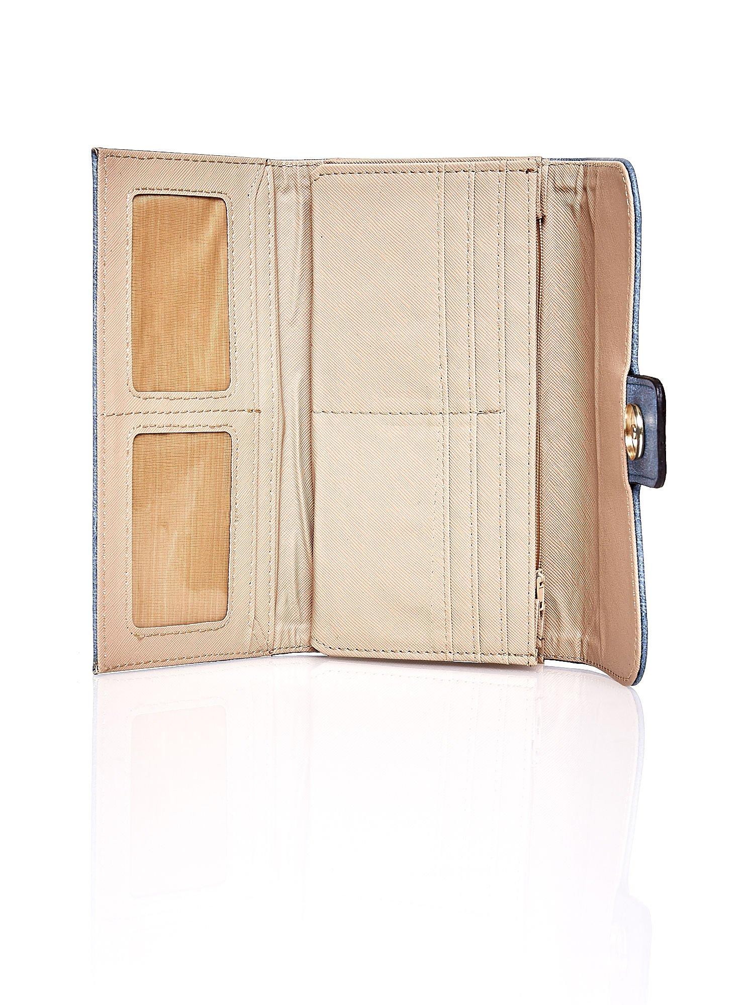 Niebieski portfel z zapięciem na magnes                                  zdj.                                  4