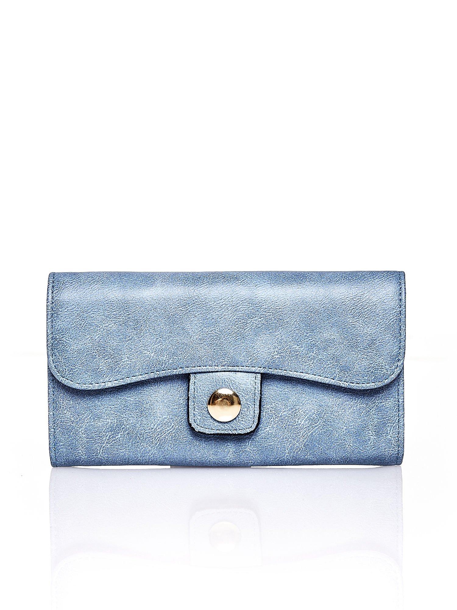 Niebieski portfel z zapięciem na magnes                                  zdj.                                  1
