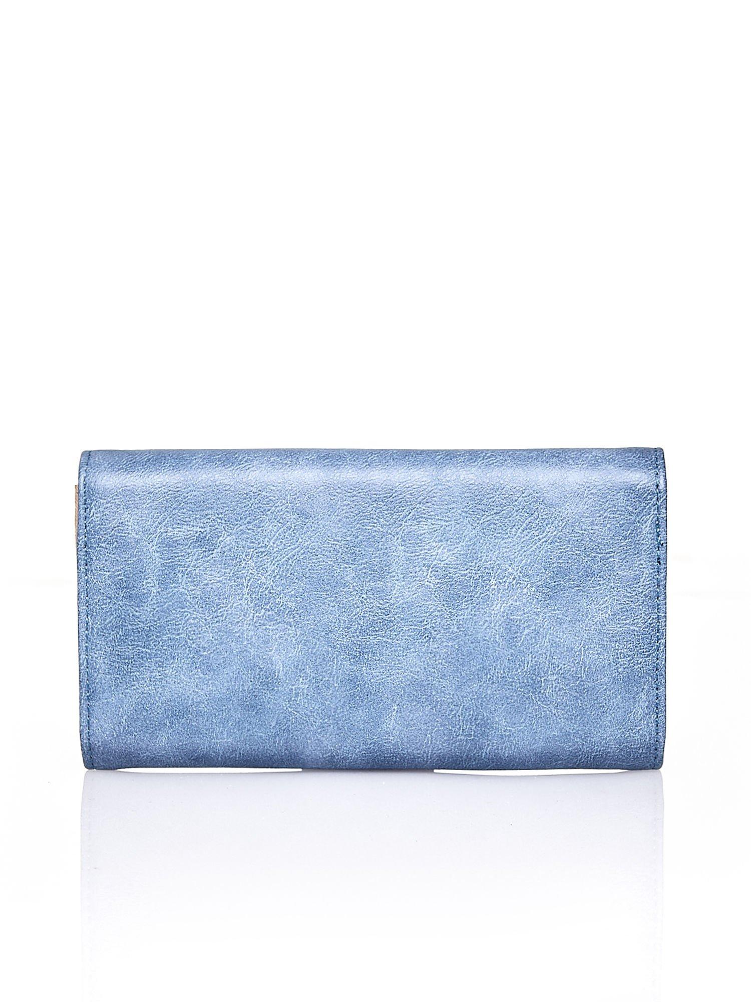 Niebieski portfel z zapięciem na magnes                                  zdj.                                  2