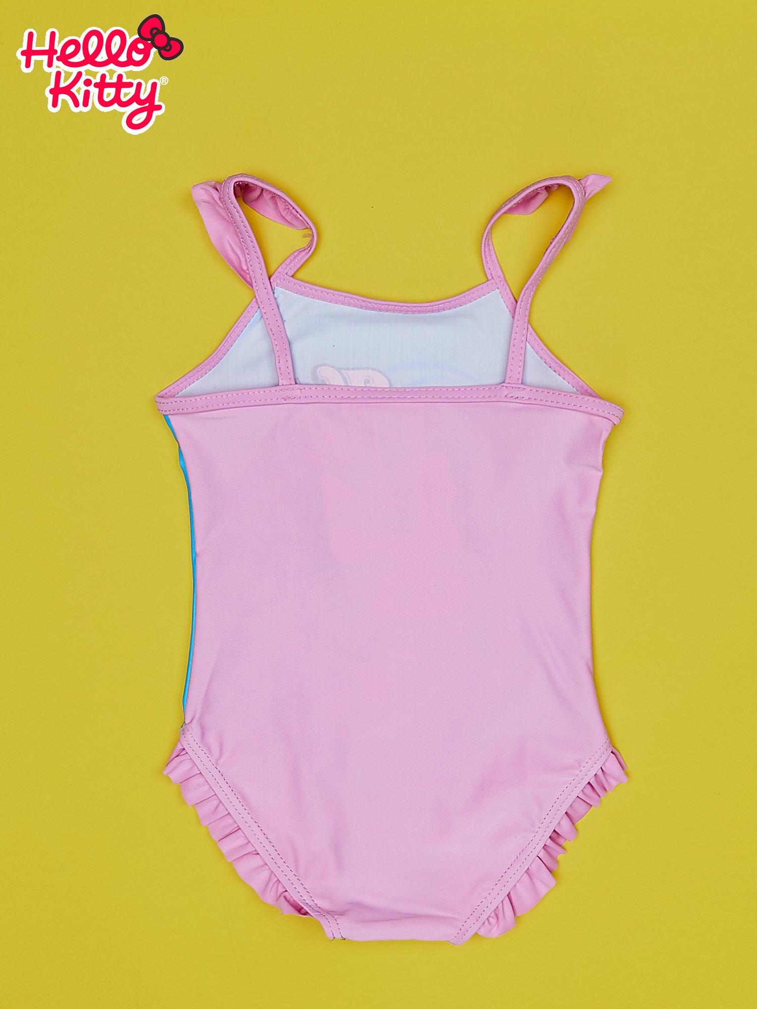 Niebieski strój kąpielowy dla dziewczynki HELLO KITTY                                  zdj.                                  2