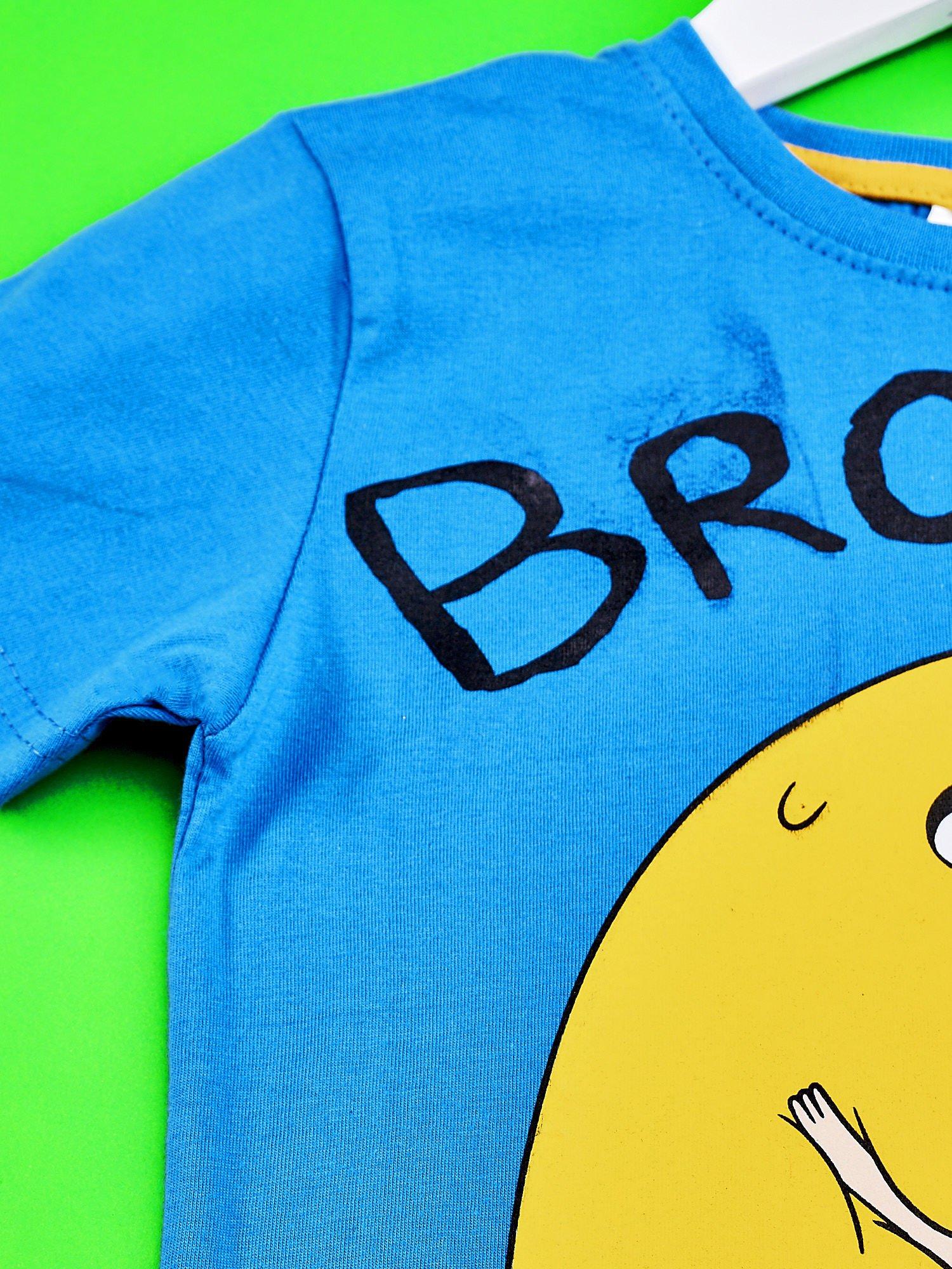 Niebieski t-shirt chłopięcy ADVENTURE TIME                                   zdj.                                  3