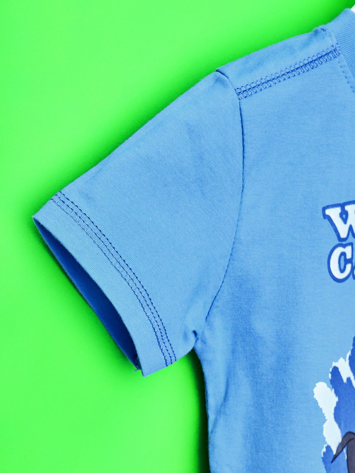 Niebieski t-shirt chłopięcy PINGWINY Z MADAGASKARU                                  zdj.                                  6