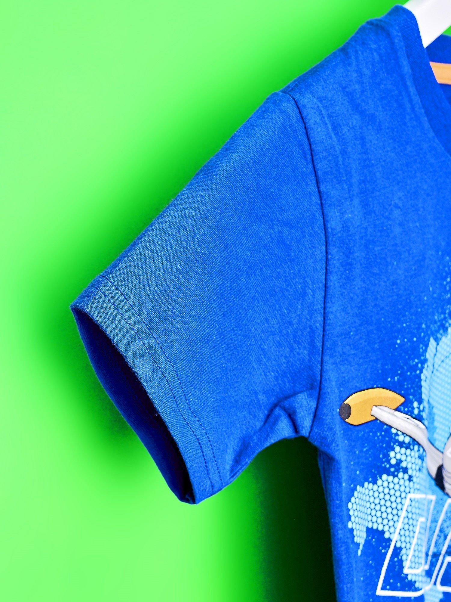 Niebieski t-shirt chłopięcy SAMOLOTY                                  zdj.                                  6