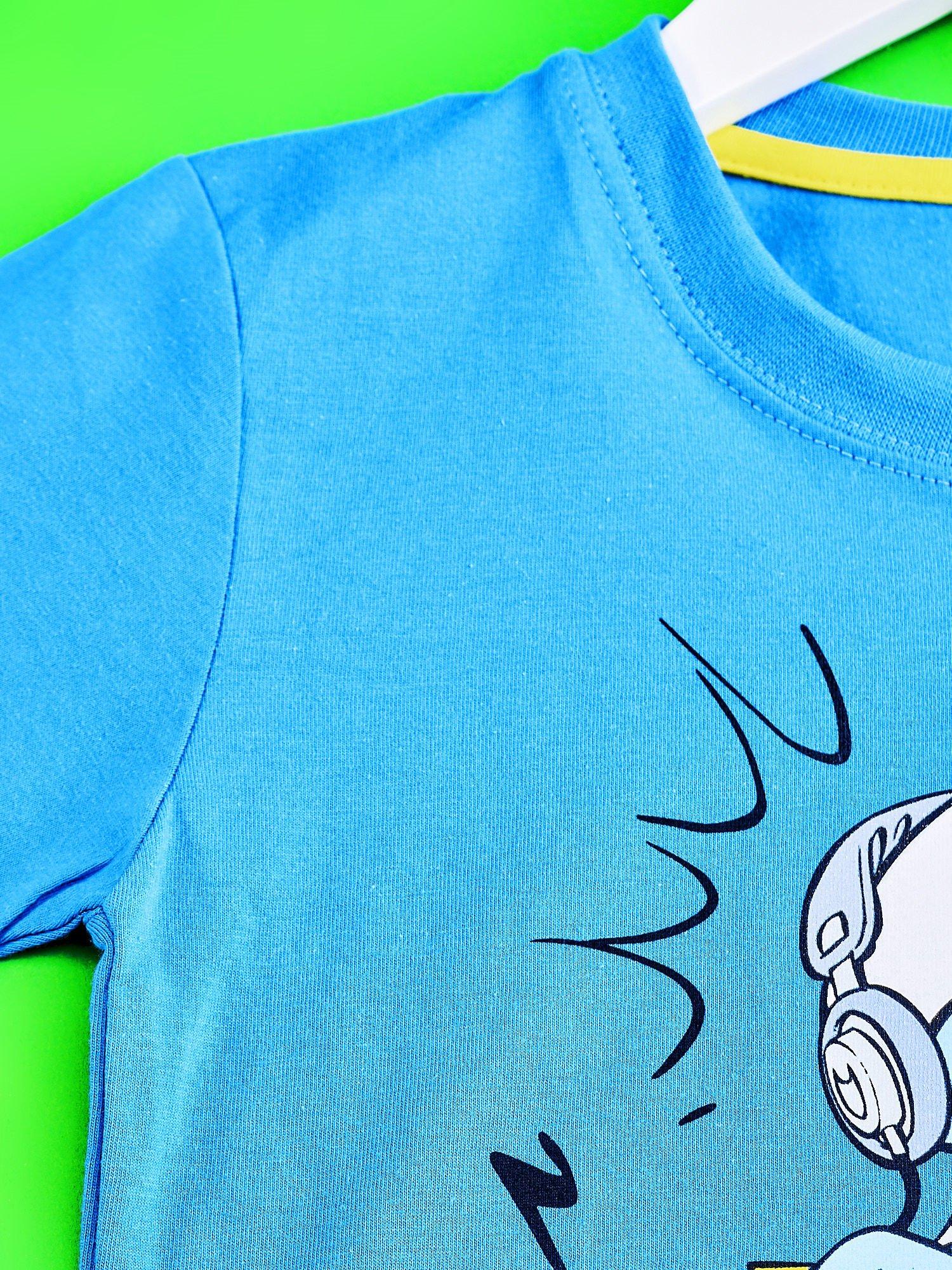 Niebieski t-shirt chłopięcy SMERFY                                  zdj.                                  3