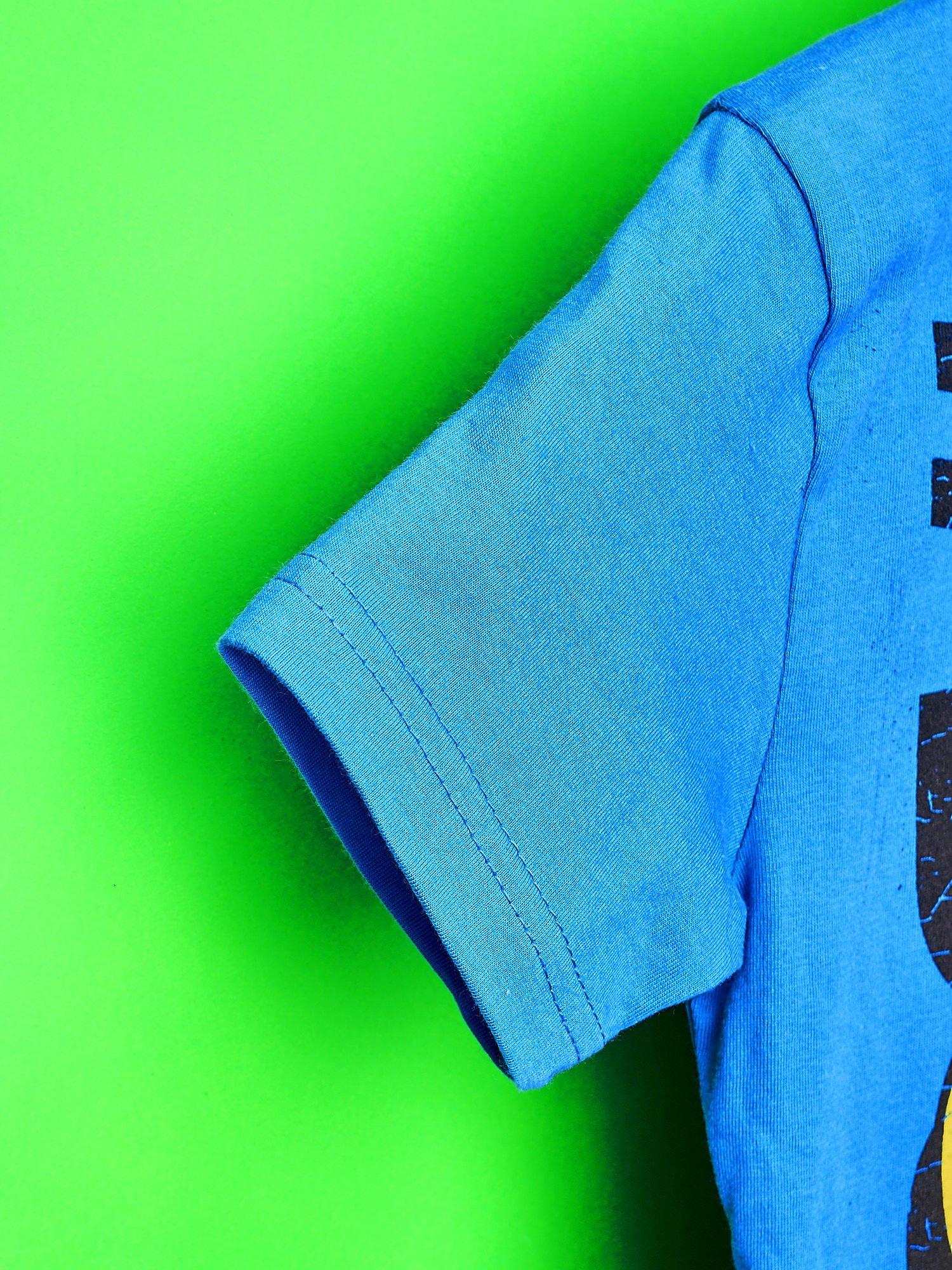Niebieski t-shirt chłopięcy  motywem ADVENTURE TIME                                   zdj.                                  6