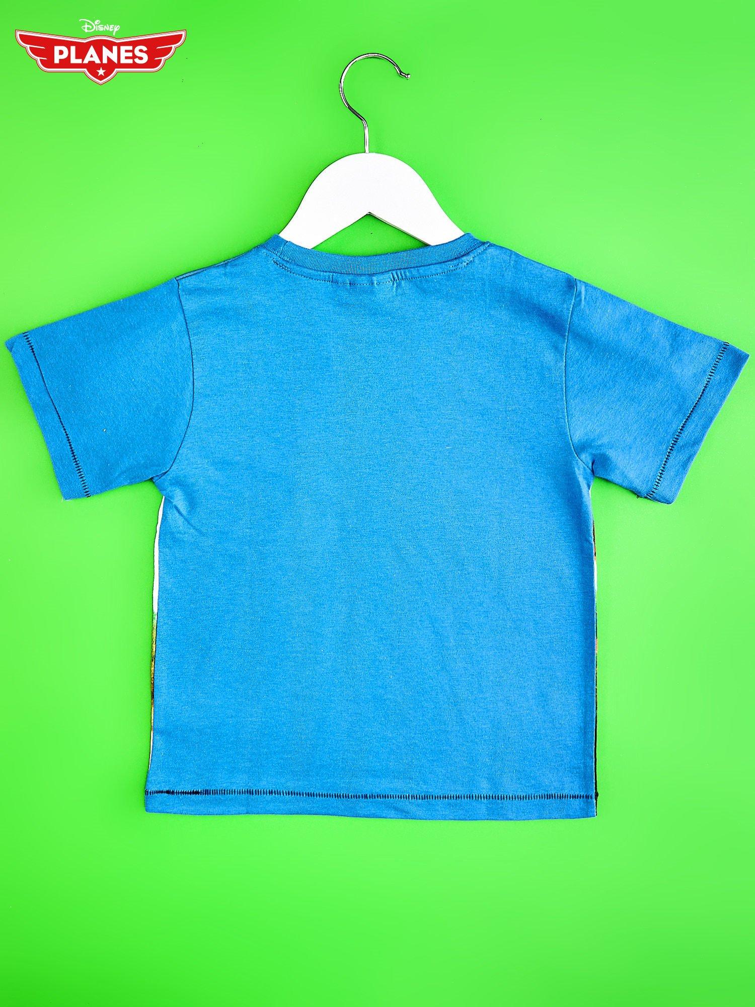 Niebieski t-shirt dziecięcy z nadrukiem SAMOLOTY                                  zdj.                                  2