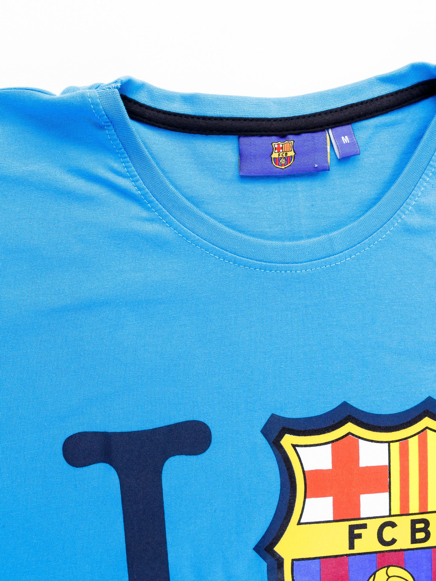 Niebieski t-shirt męski FC BARCELONA                                  zdj.                                  11