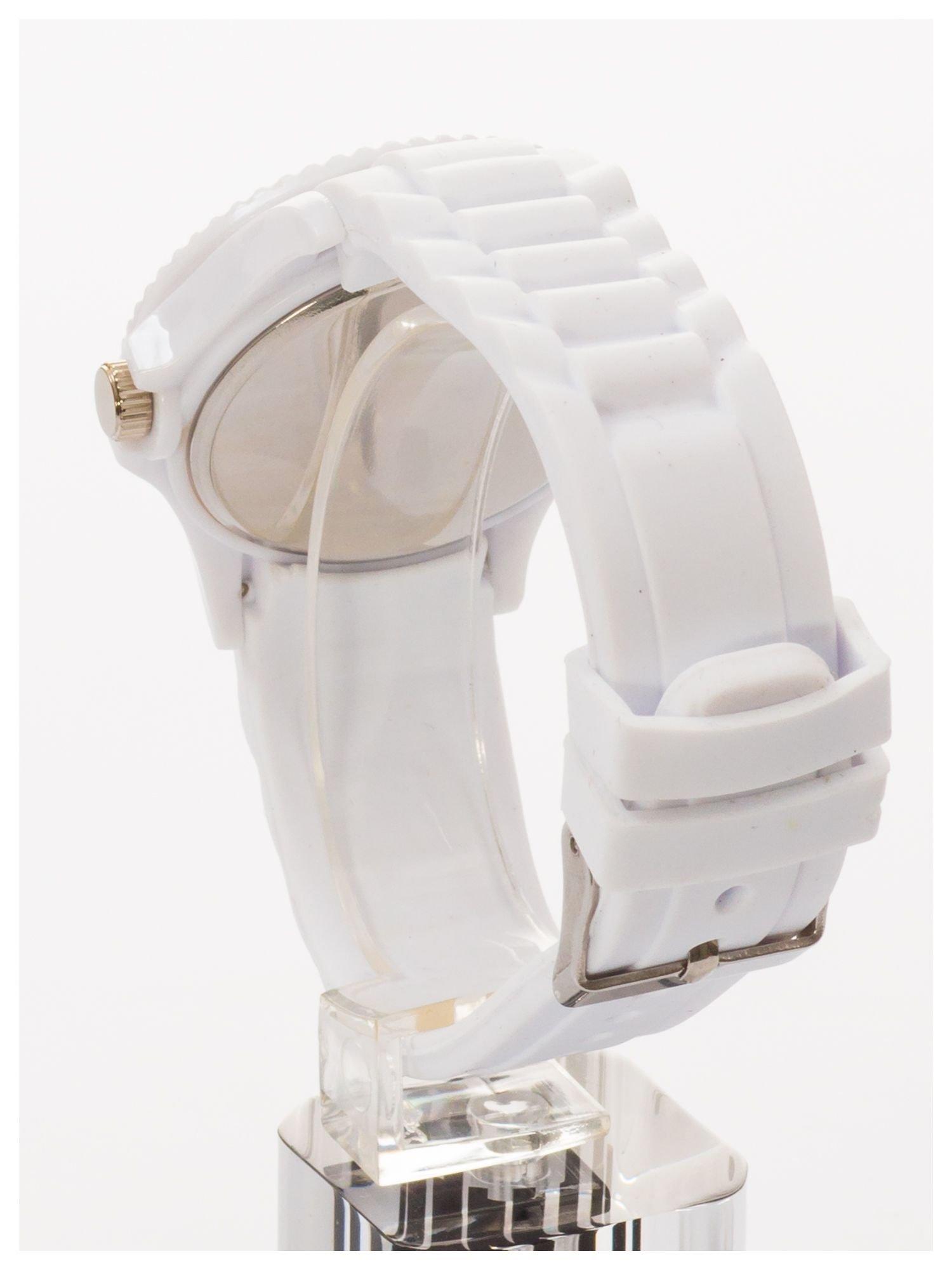 Niebieski zegarek damski na silikonowym pasku                                  zdj.                                  4