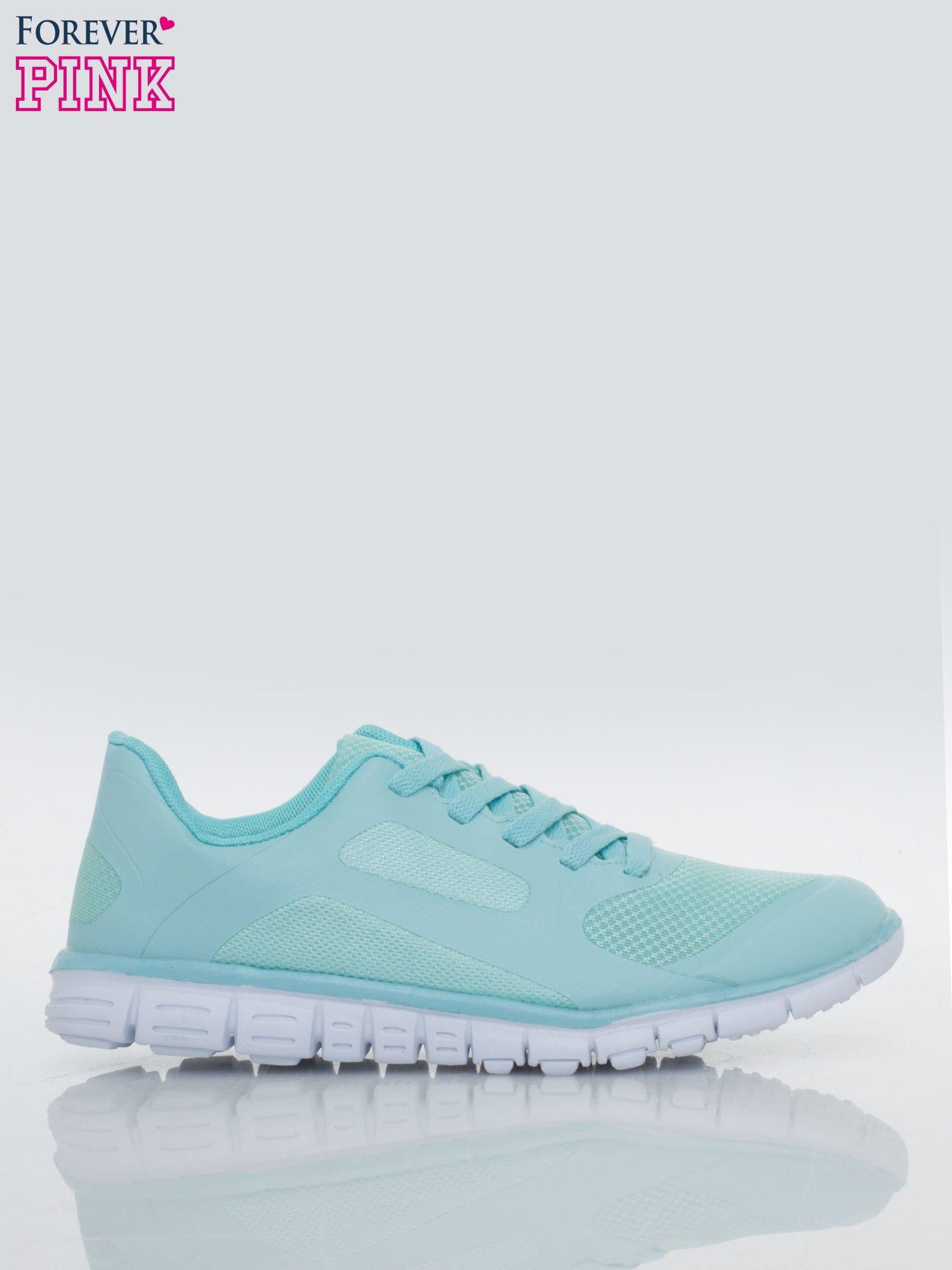 Niebieskie buty sportowe damskie z podeszwą z rowkami flex                                  zdj.                                  1