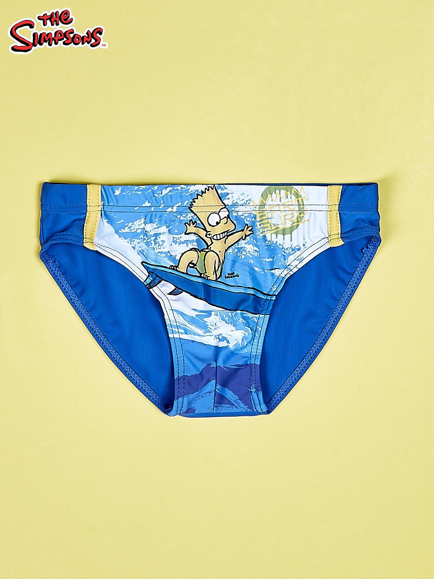 Niebieskie chłopięce kąpielówki SIMPSONOWIE                                  zdj.                                  1