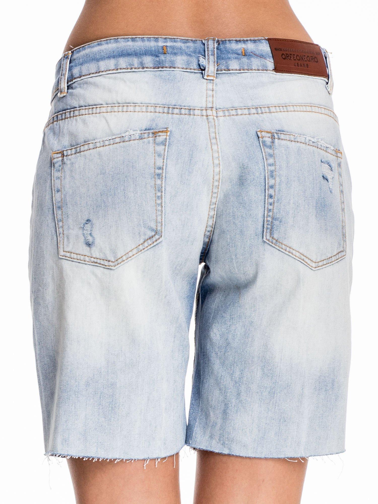 Niebieskie jeansowe szorty a'la bermudy                                  zdj.                                  2