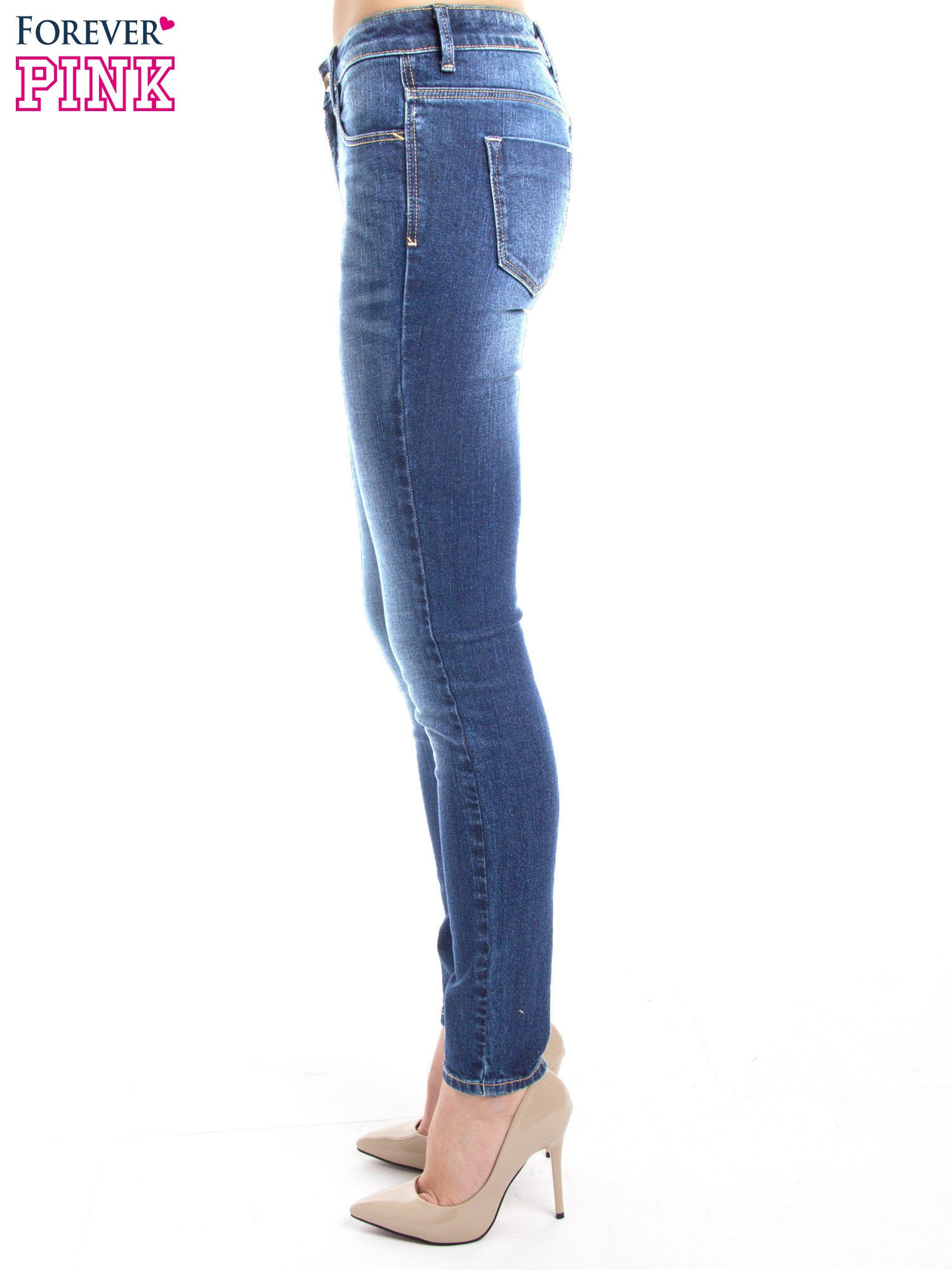 Niebieskie jeansy slim fit                                  zdj.                                  2