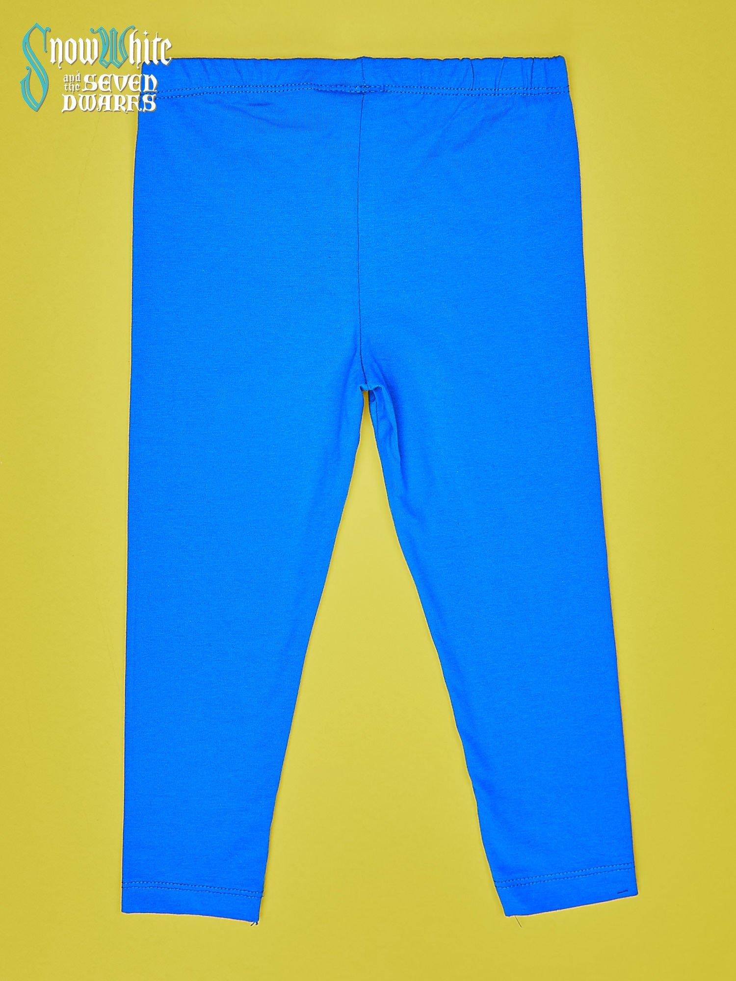Niebieskie legginsy dla dziewczynki KRÓLEWNA ŚNIEŻKA                                  zdj.                                  2