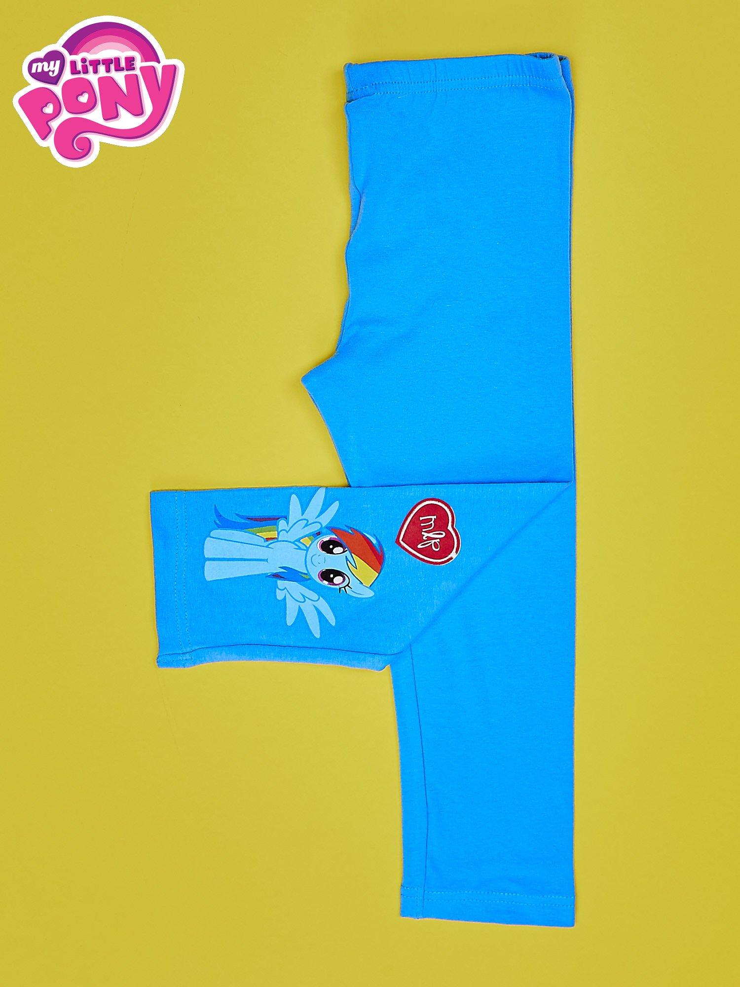 Niebieskie legginsy dla dziewczynki z nadrukiem MY LITTLE PONY                                  zdj.                                  3