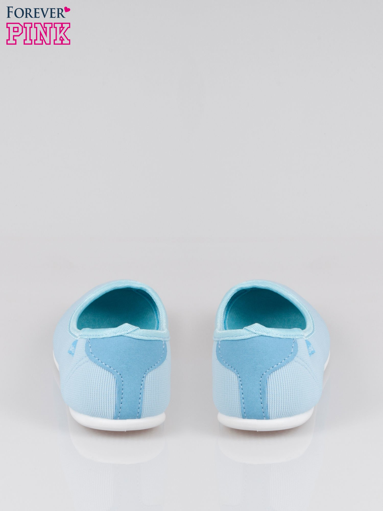 Niebieskie lekkie balerinki Cute Blush slip on                                  zdj.                                  3