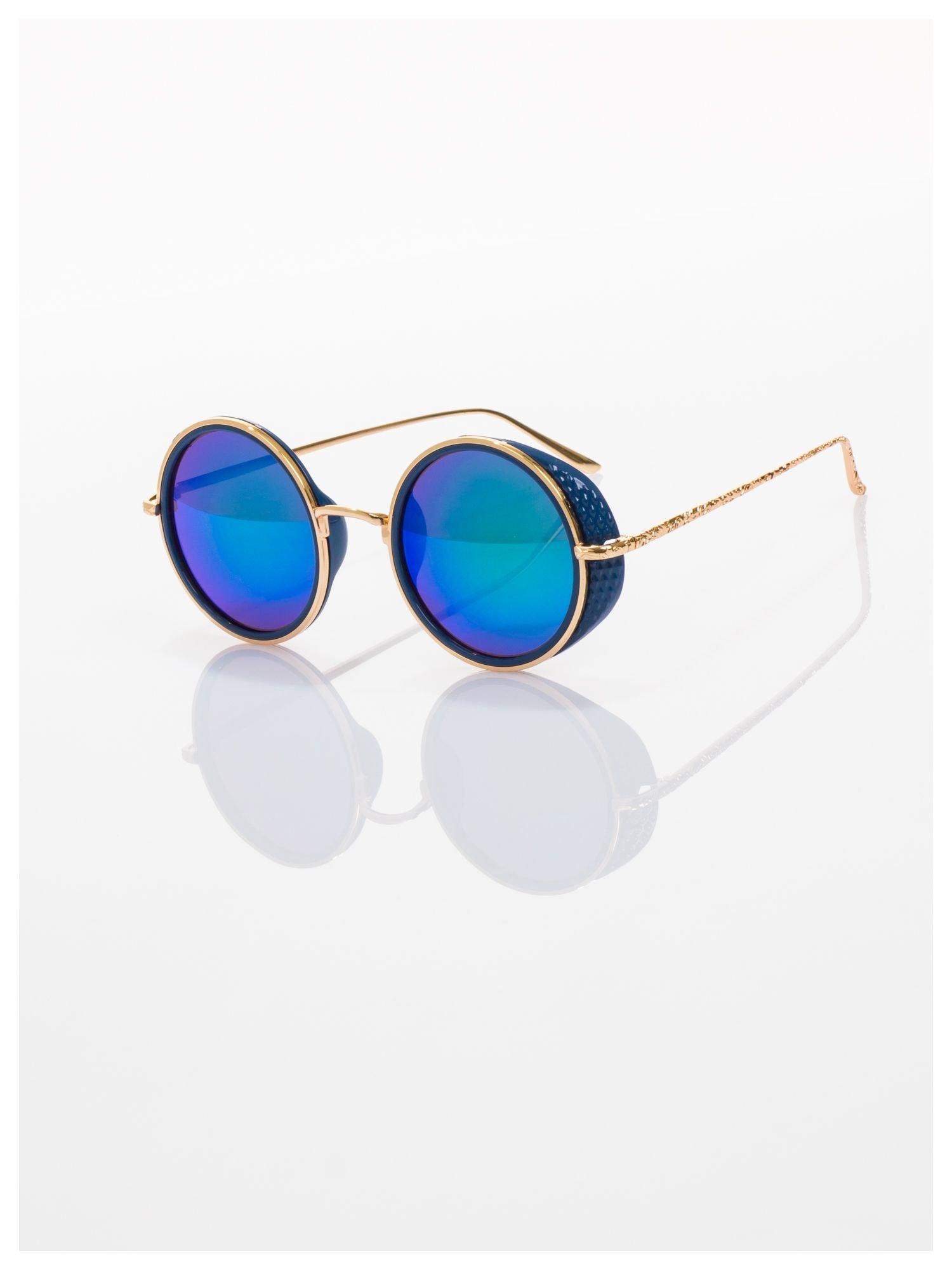 c133718d03b5d9 Niebieskie Lustrzanki Okulary Przeciwsłoneczne Lenonki W Stylu