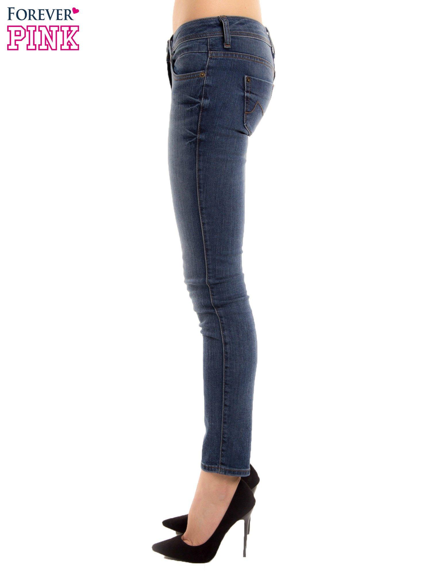 Niebieskie rurki skinny jeans                                  zdj.                                  3