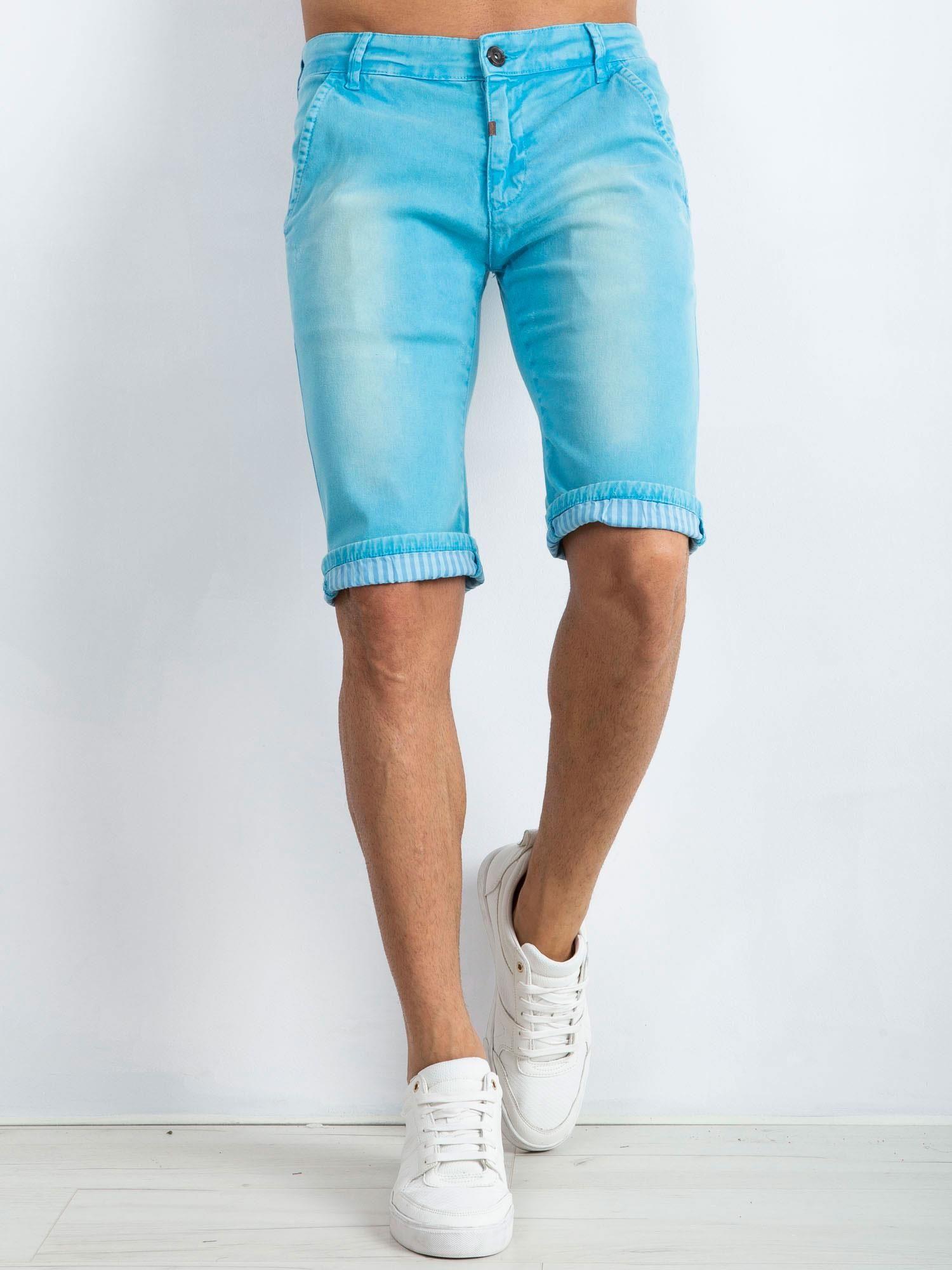 3f806e46 Niebieskie spodenki męskie Austin - Mężczyźni Spodenki męskie ...