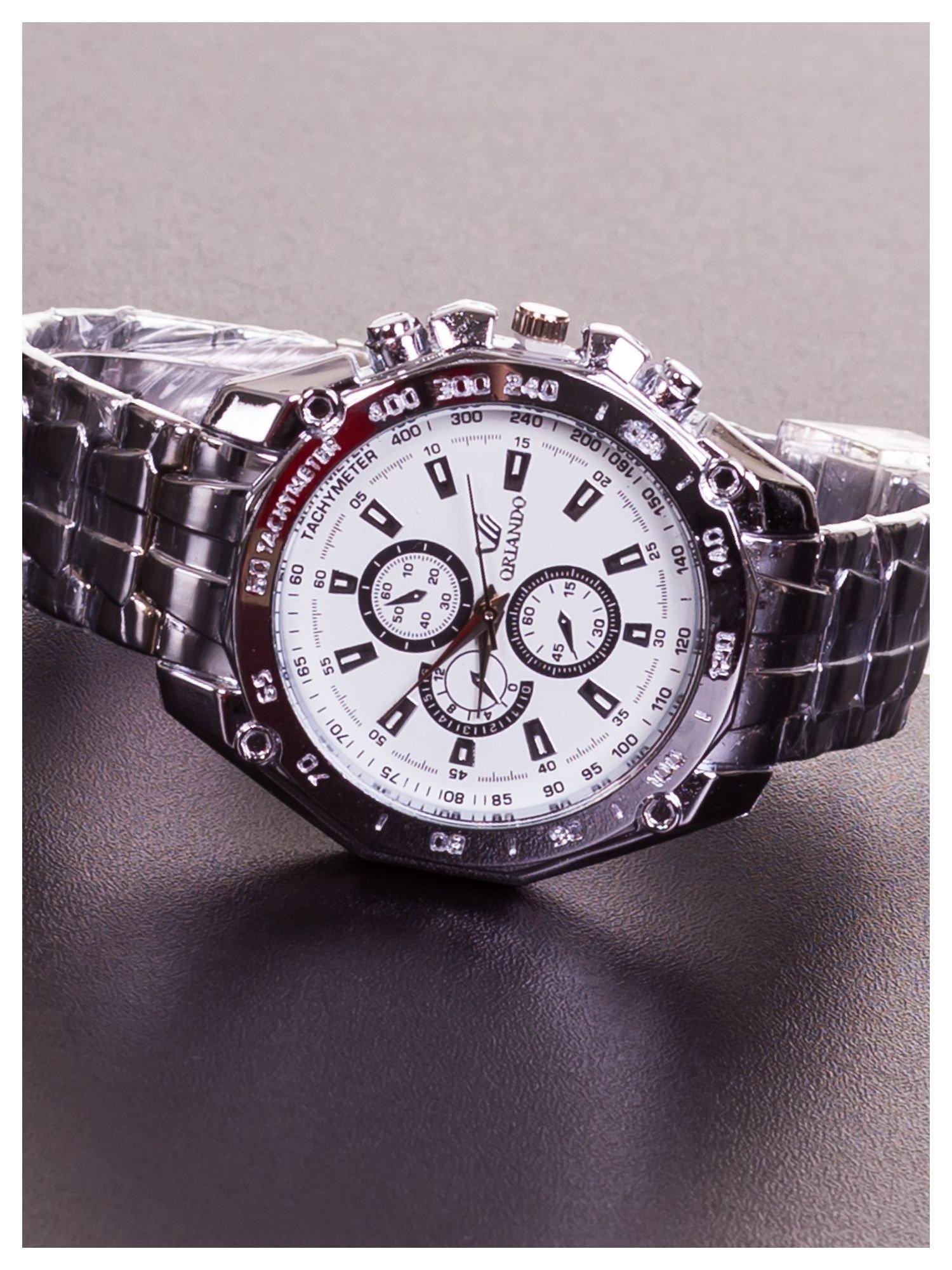 ORLANDO Potężny męski zegarek na srebrnej bransolecie                                  zdj.                                  2