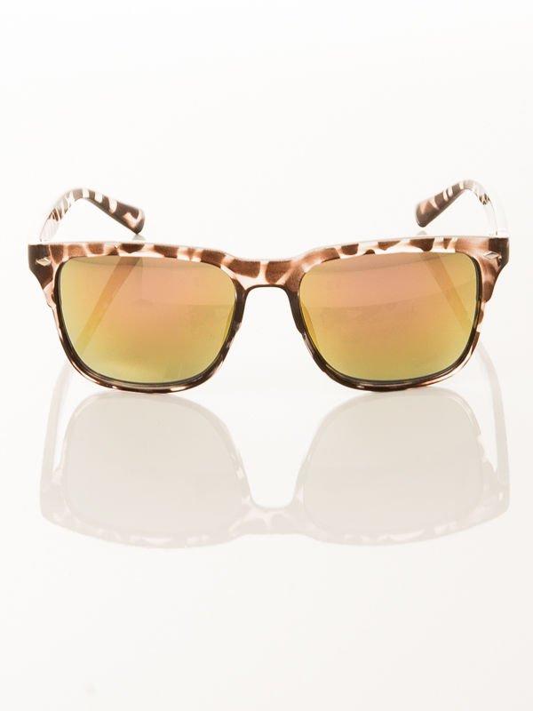 Okulary przeciwsłoneczne w stylu wayfarer czarno nakrapiane