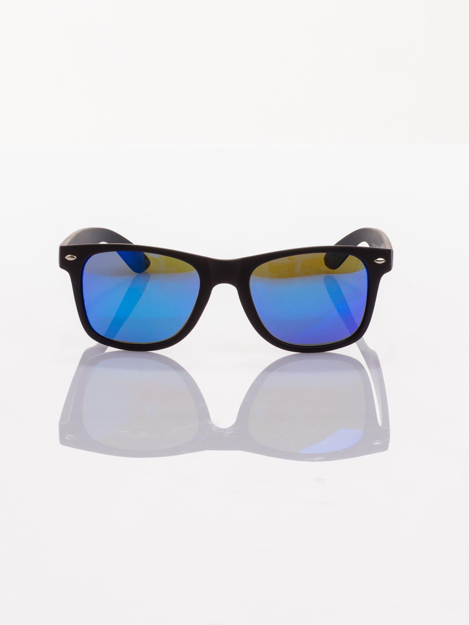 POLARYZACJA Czarne okulary przeciwsłoneczne typu WAYFARER NERD MAT LUSTRZANKA                                  zdj.                                  2