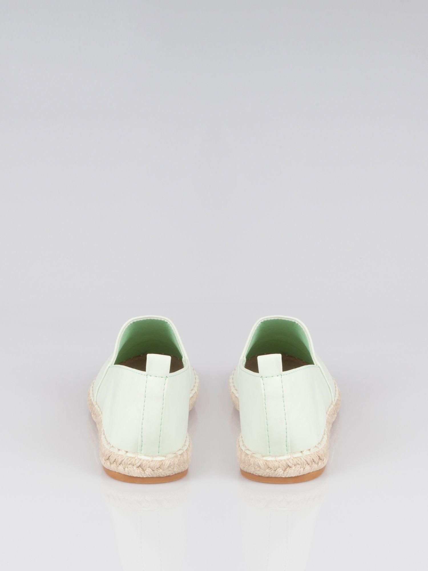 Pastelowozielone klasyczne espadryle Lofty Swag cap toe                                  zdj.                                  2