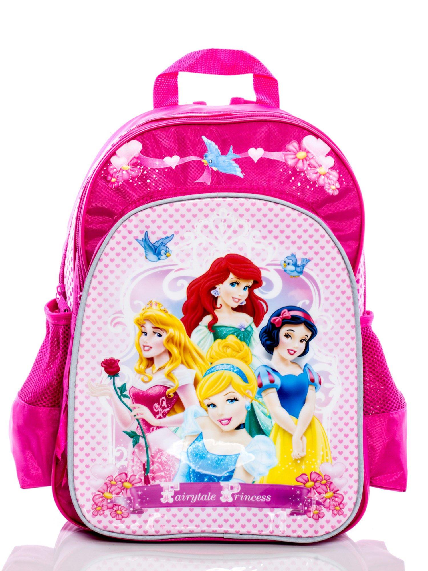 6be272b3350d0 GRATIS!!! Plecak szkolny dziewczęcy DISNEY Księżniczki ciemnoróżowy ...
