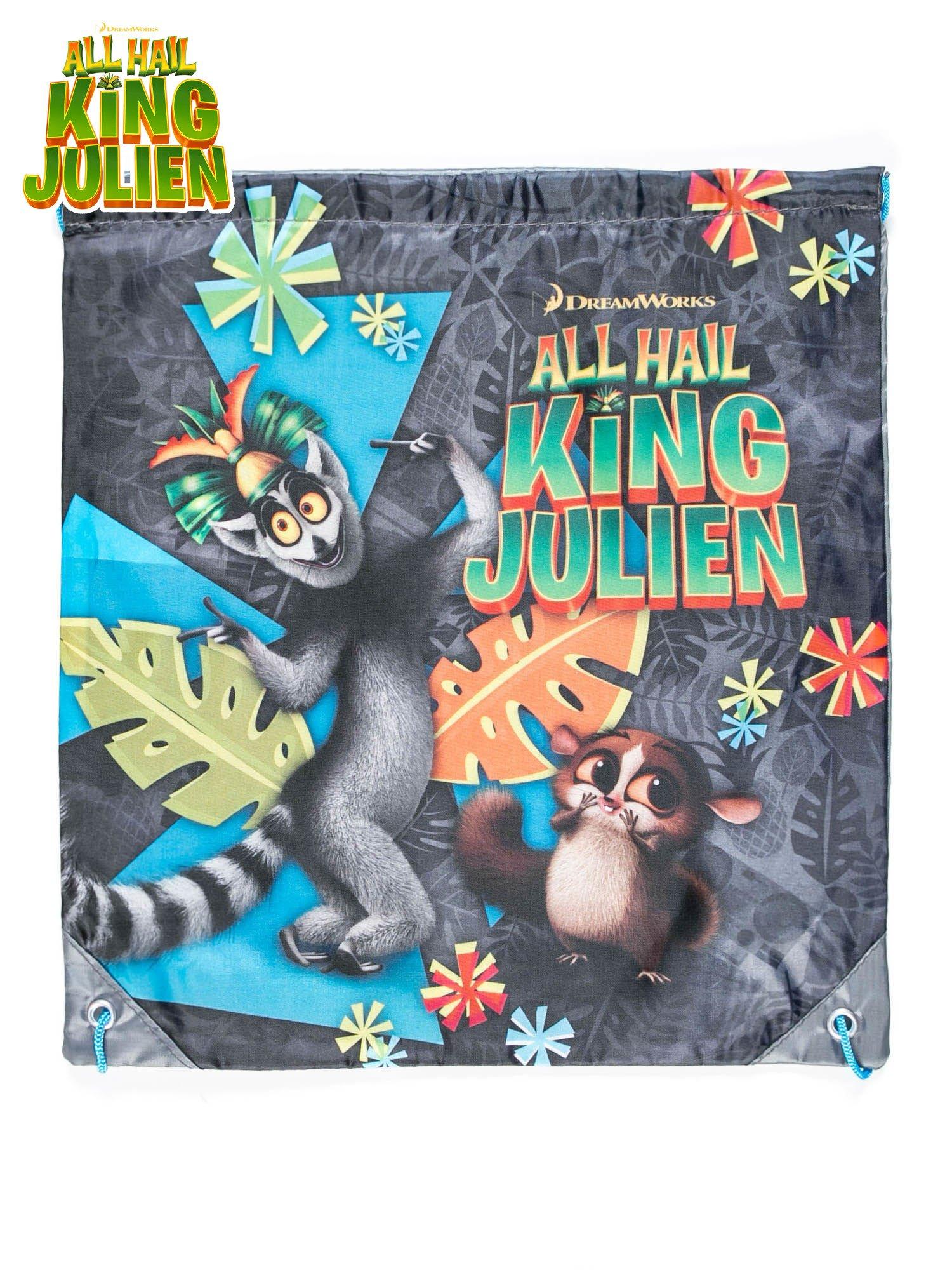 Plecak typu worek z motywem ALL HAIL KING JULIEN