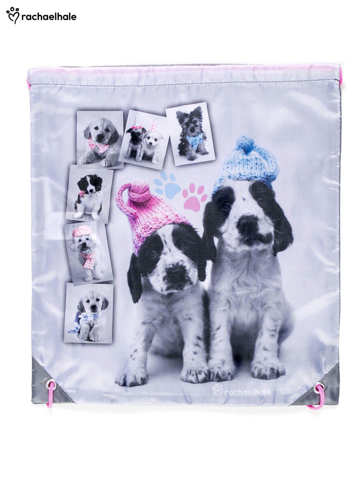 Plecak typu worek z nadrukiem psów