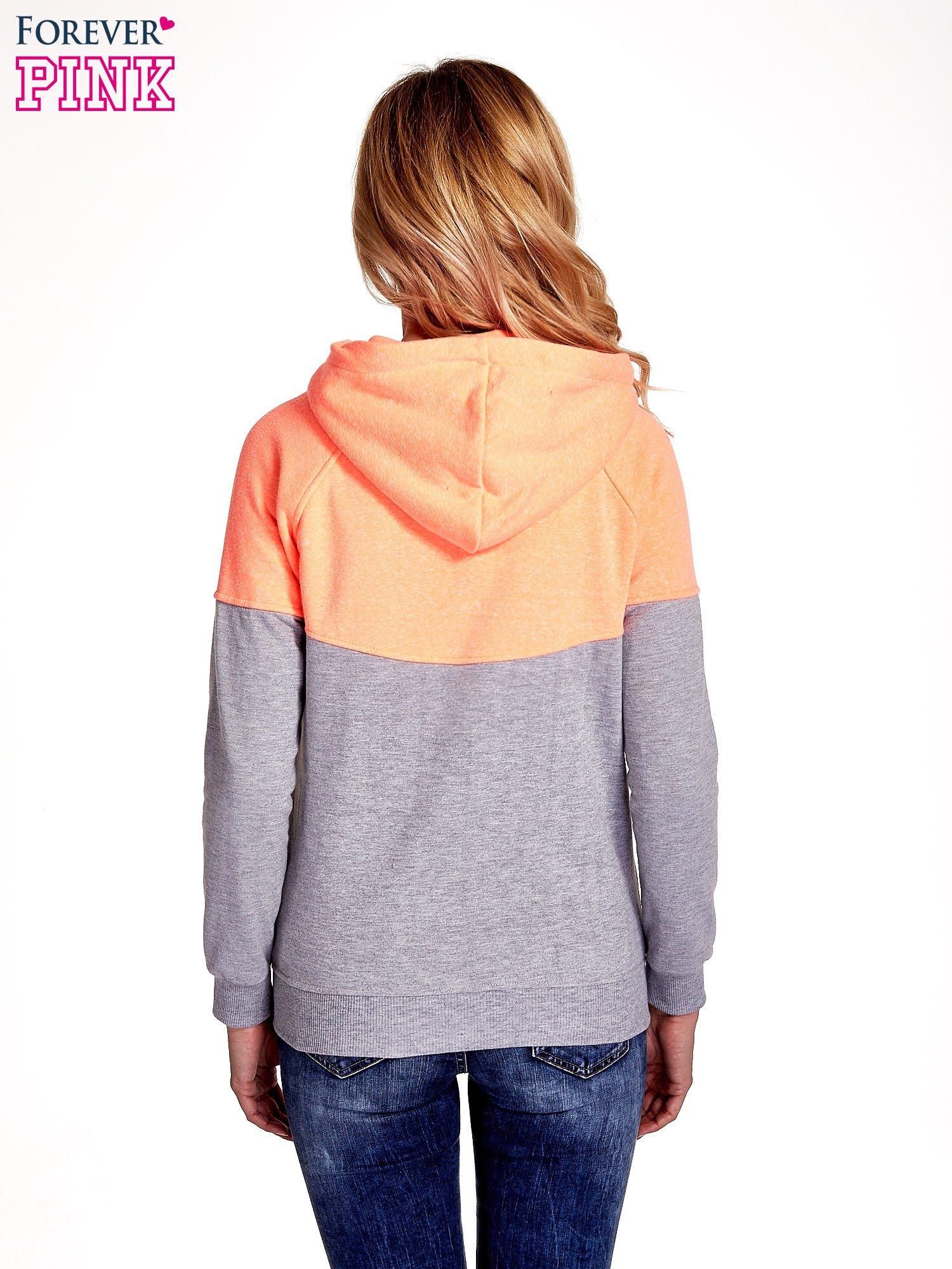 Pomarańczowa bluza z szarym pasem                                  zdj.                                  4