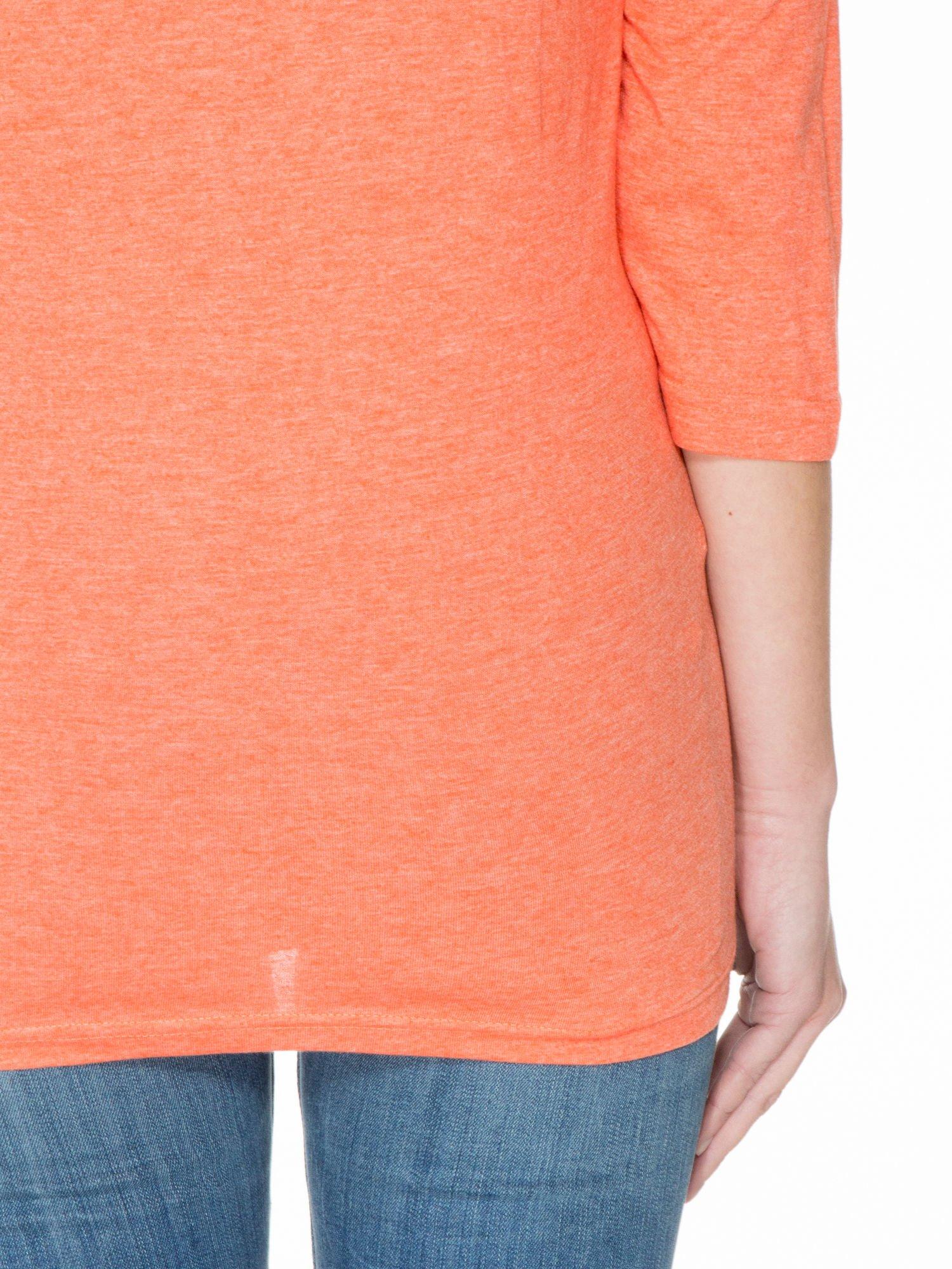 Pomarańczowa luźna bluzka z rękawem 3/4                                  zdj.                                  6