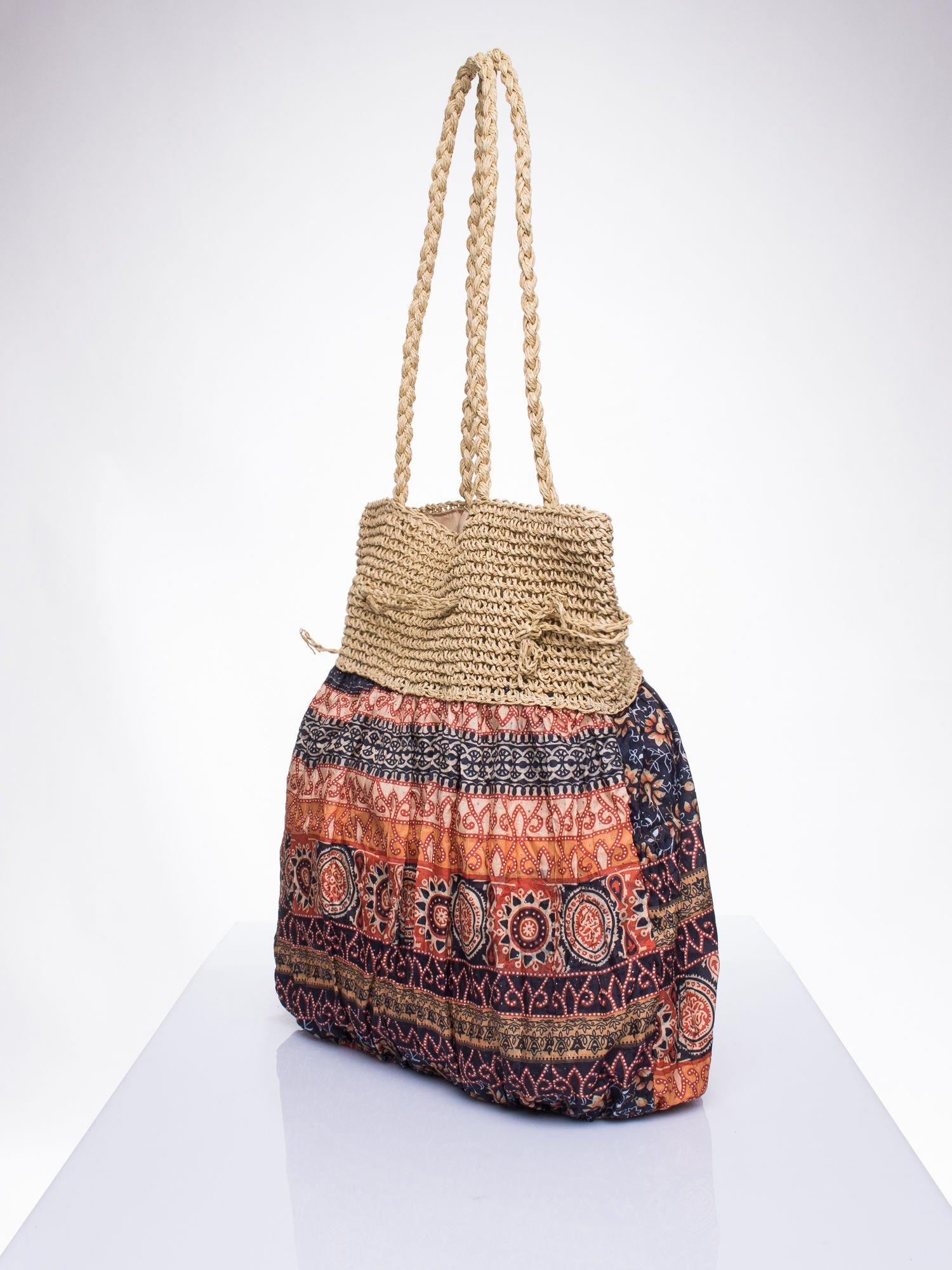Pomarańczowa torebka w stylu boho                                  zdj.                                  3