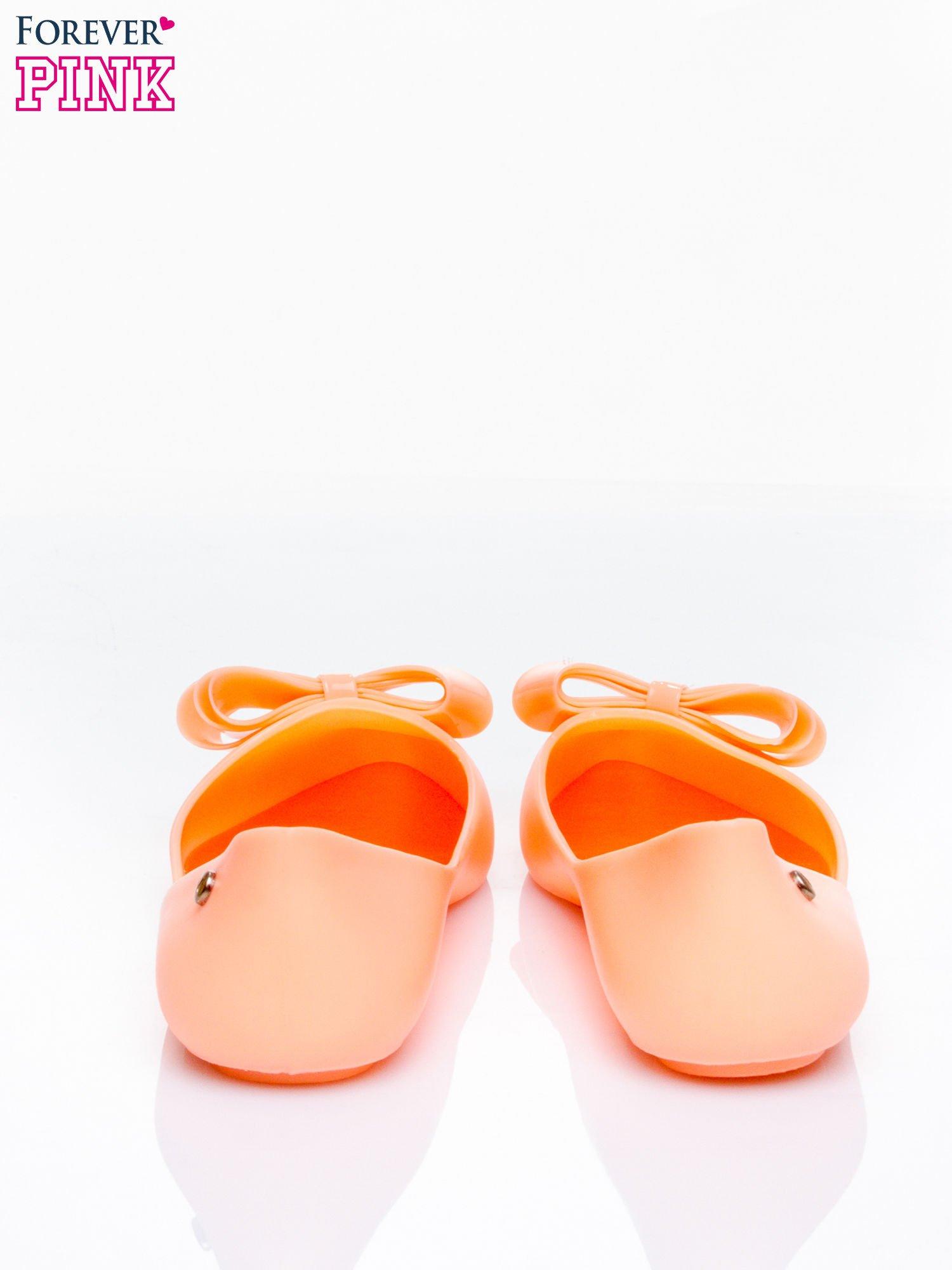 Pomarańczowe baleriny silicone Naomi gumowe z kokardą                                  zdj.                                  4