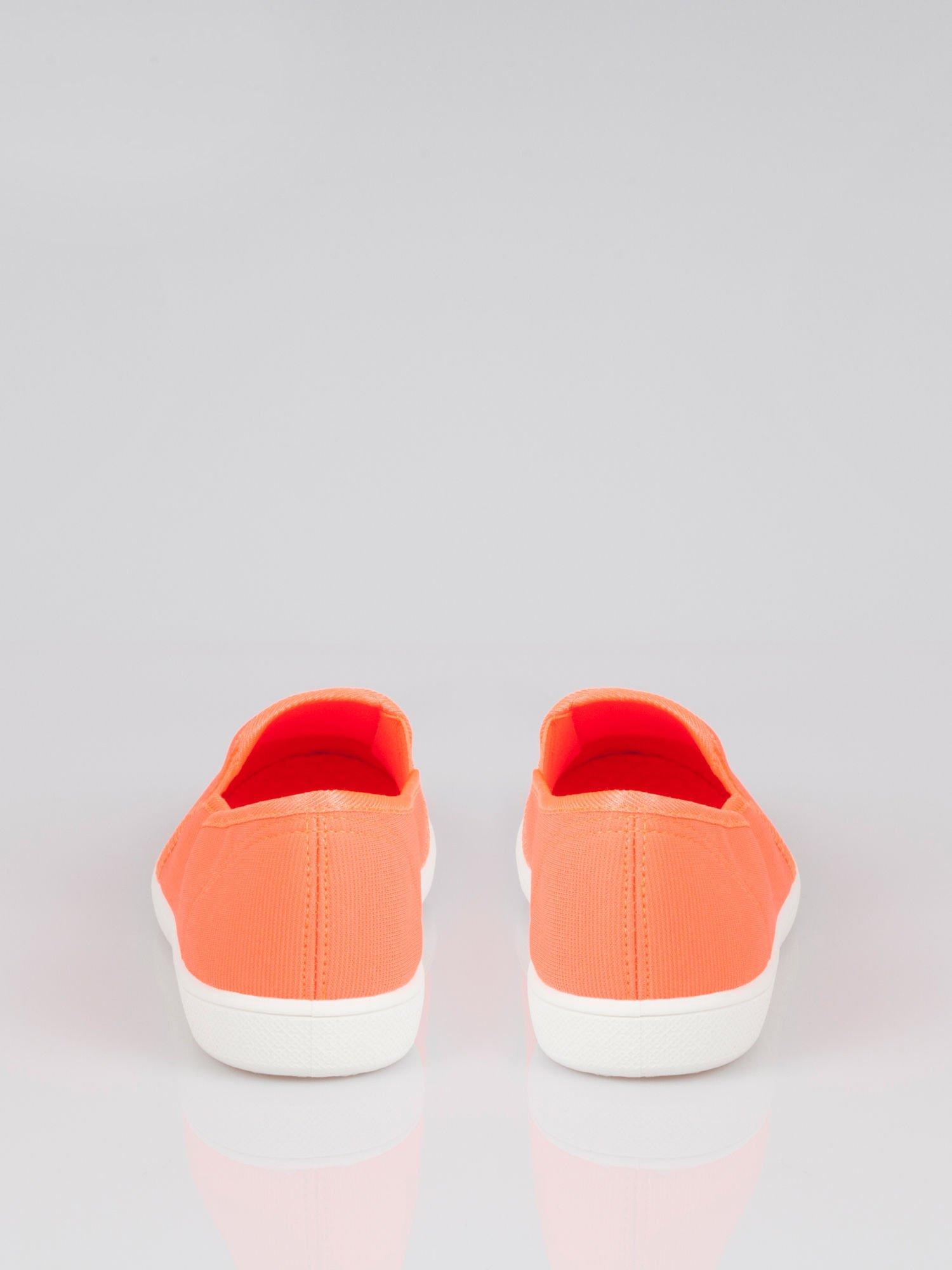 Pomarańczowe lekkie buty sliponki                                  zdj.                                  3