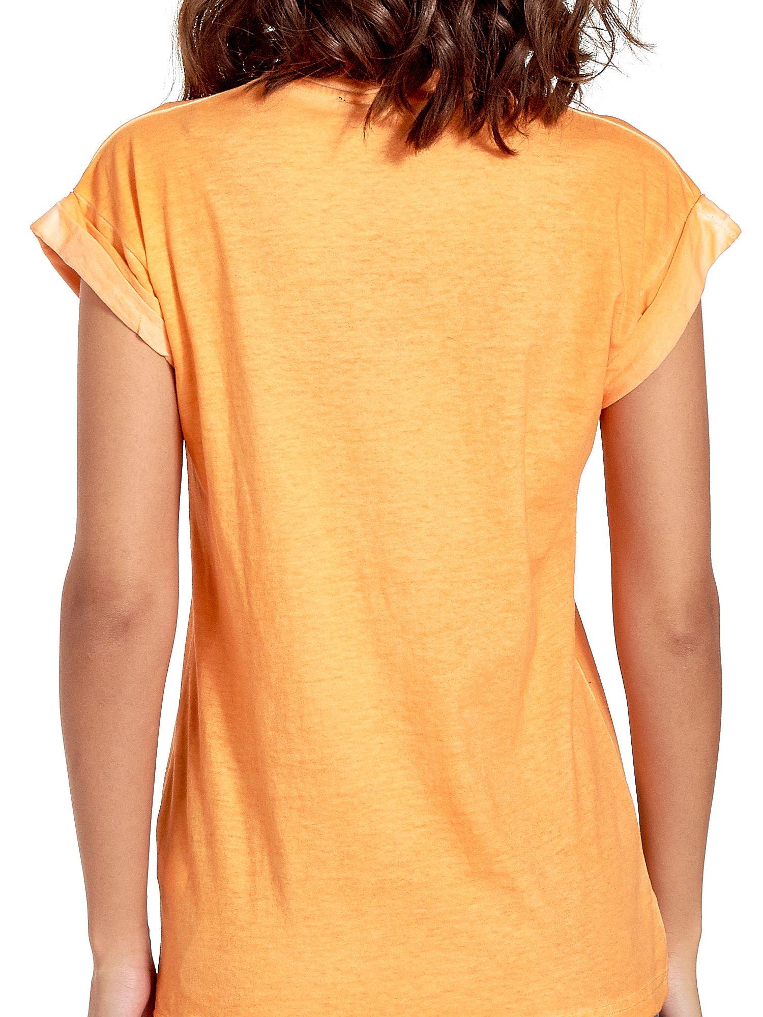 Pomarańczowy t-shirt z nadrukiem GUNS N' ROSES                                  zdj.                                  6