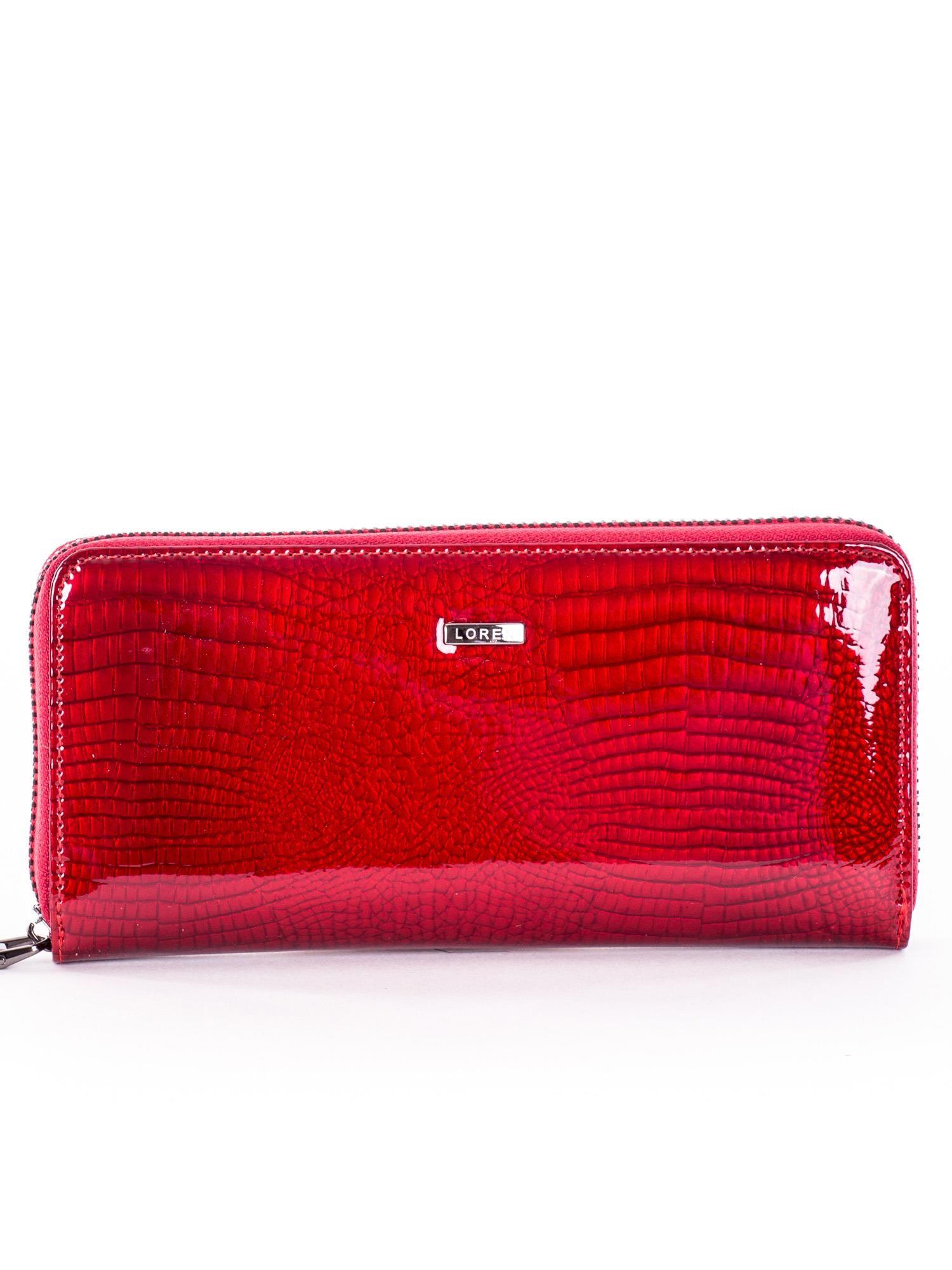141b6cae6a0c8 Portfel damski lakierowany czerwony skórzany - Akcesoria portfele ...