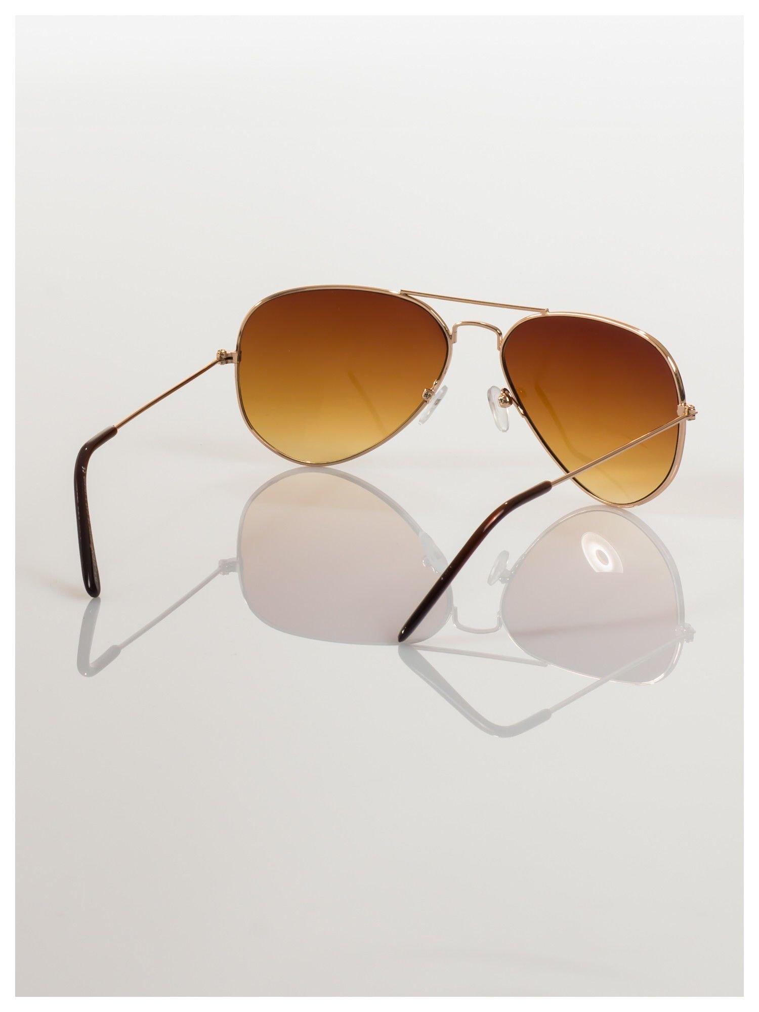 Przepiękne brązowe pilotki -okulary przeciwsłoneczne typu AVIATOR                                  zdj.                                  4