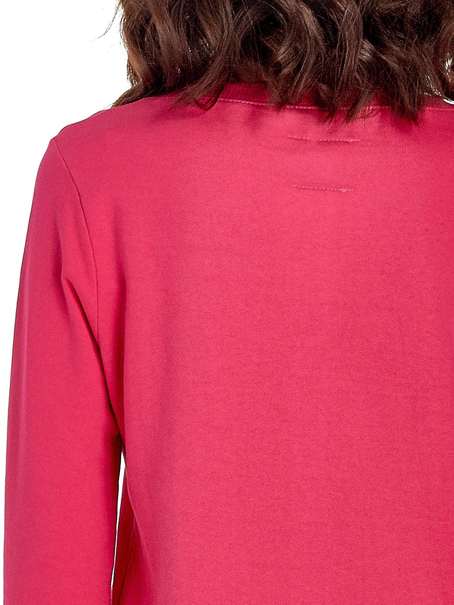 Różowa bluza z napisem LOVE ME i dłuższym tyłem                                  zdj.                                  6