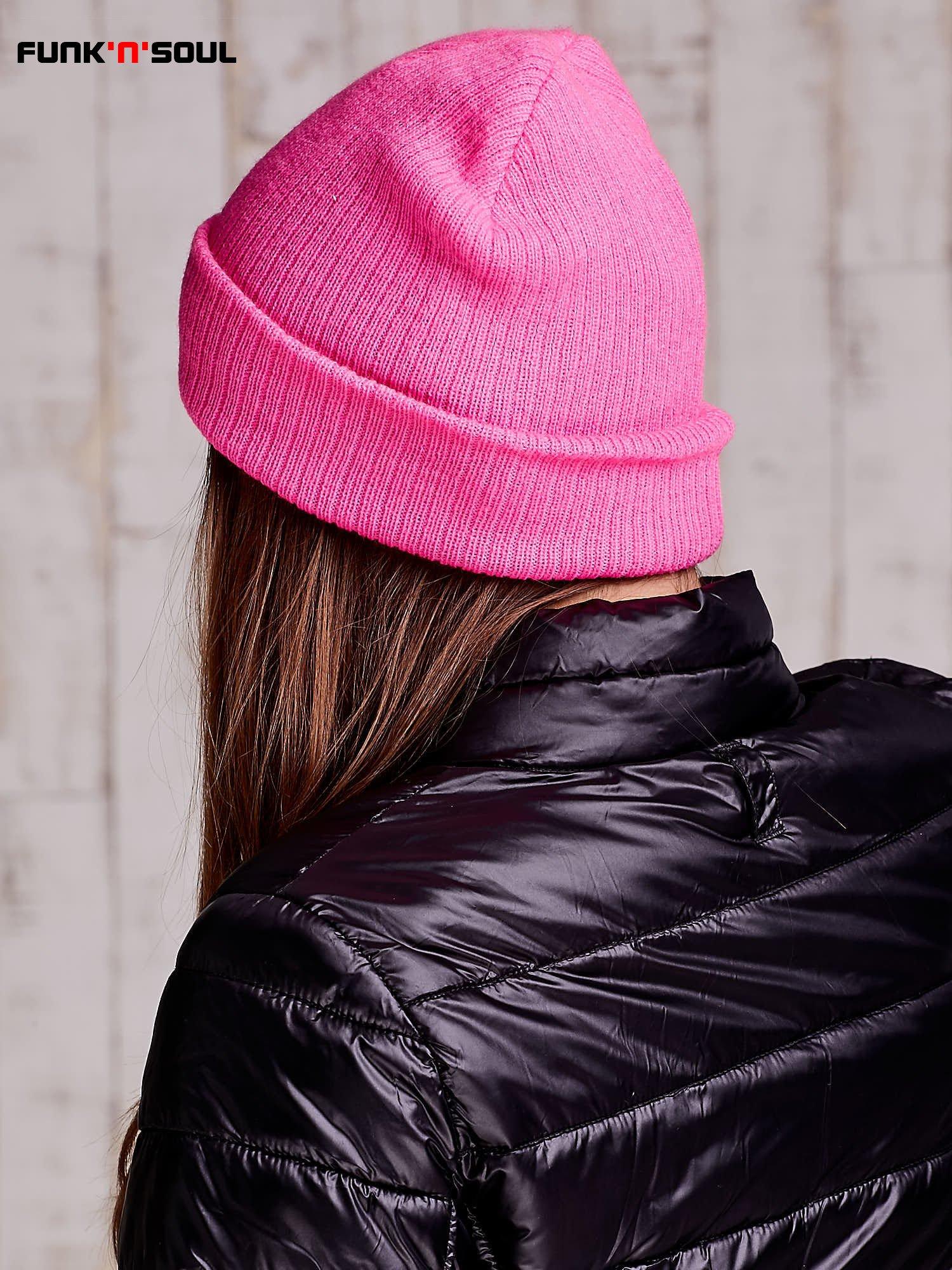 Różowa czapka beanie FUNK N SOUL                                  zdj.                                  4