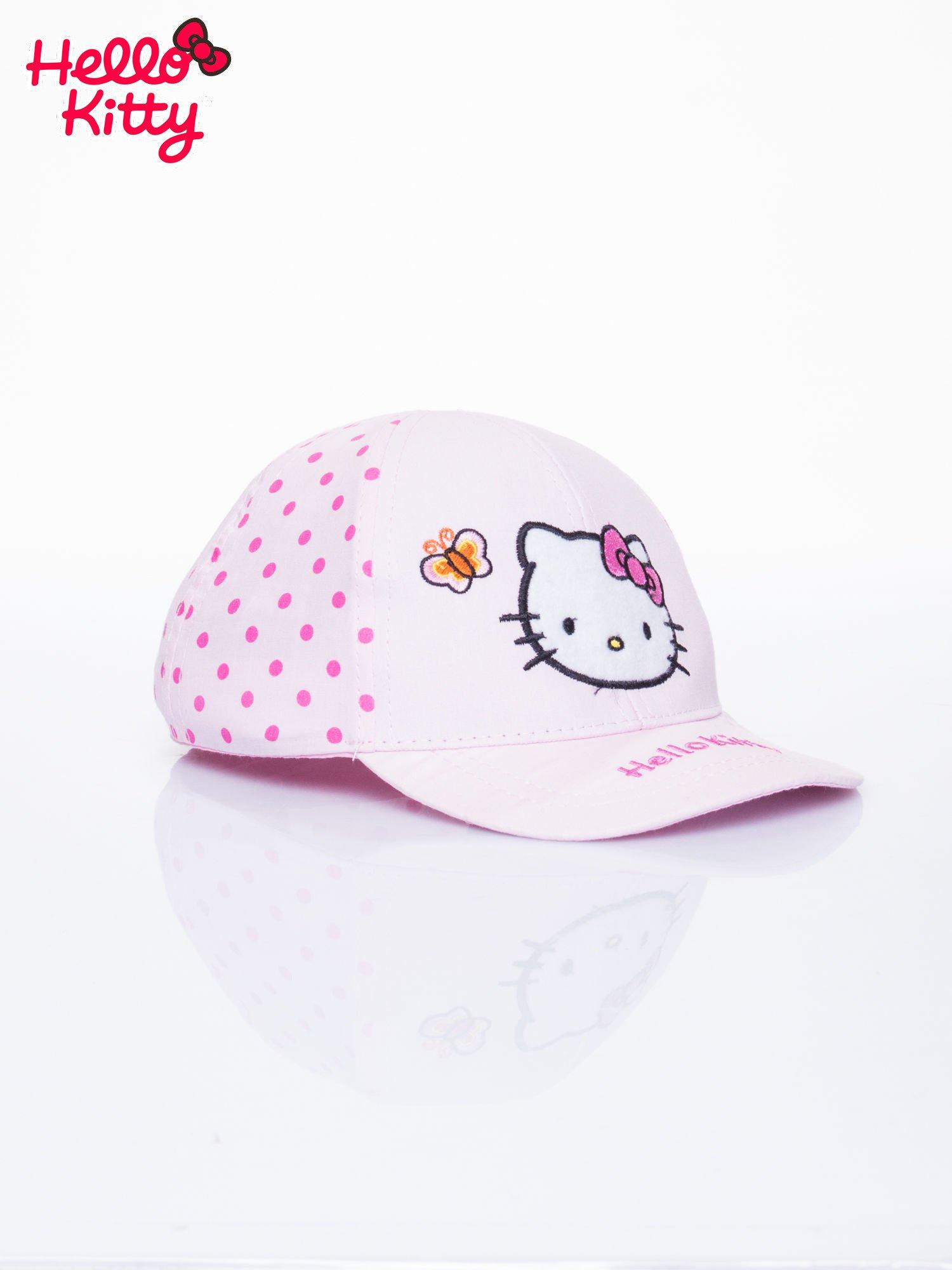 Różowa czapka z daszkiem dla dziewczynki HELLO KITTY                                  zdj.                                  2