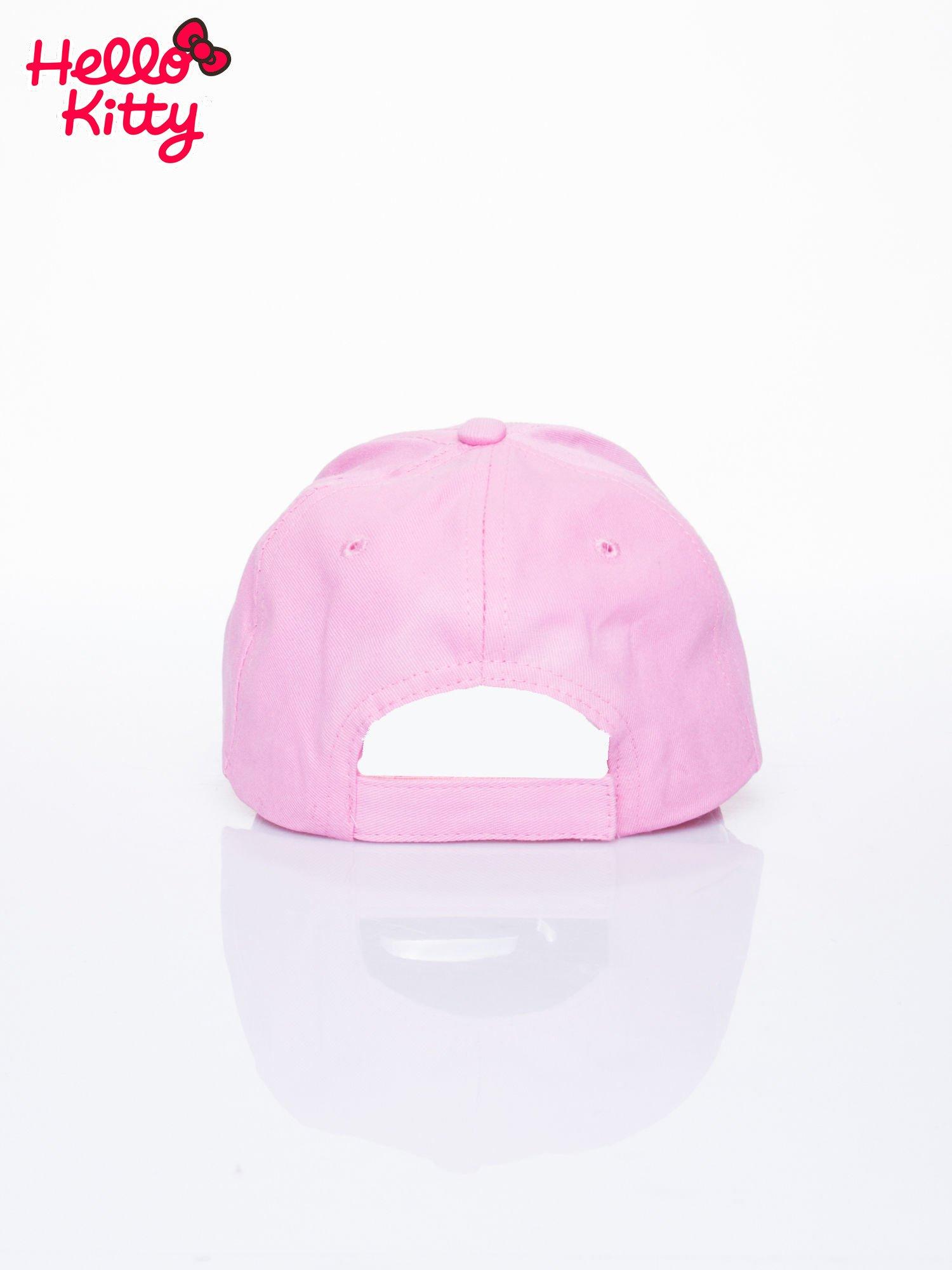 Różowa czapka z daszkiem dla dziewczynki z motywem HELLO KITTY                                  zdj.                                  3