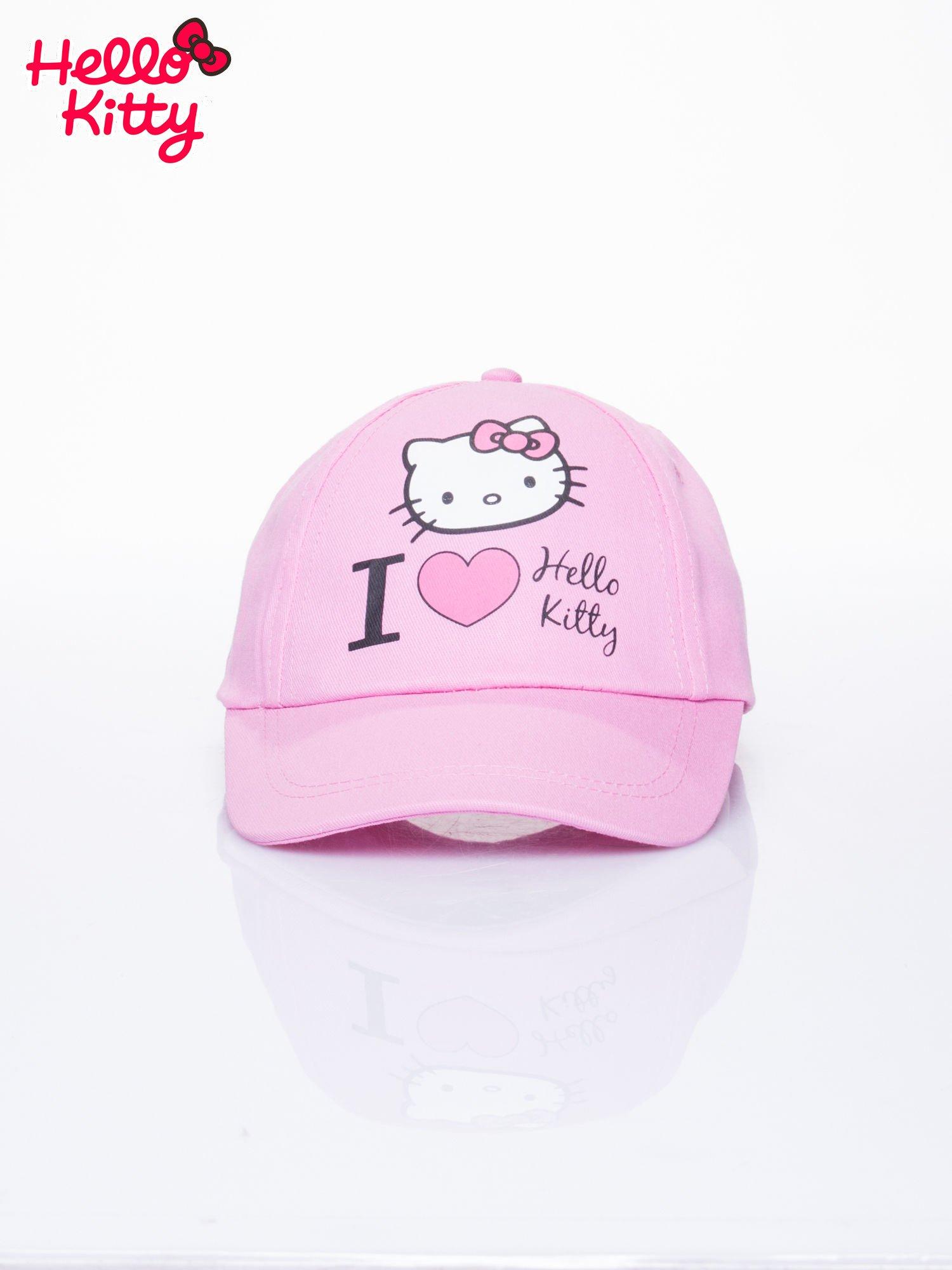 Różowa czapka z daszkiem dla dziewczynki z motywem HELLO KITTY                                  zdj.                                  1