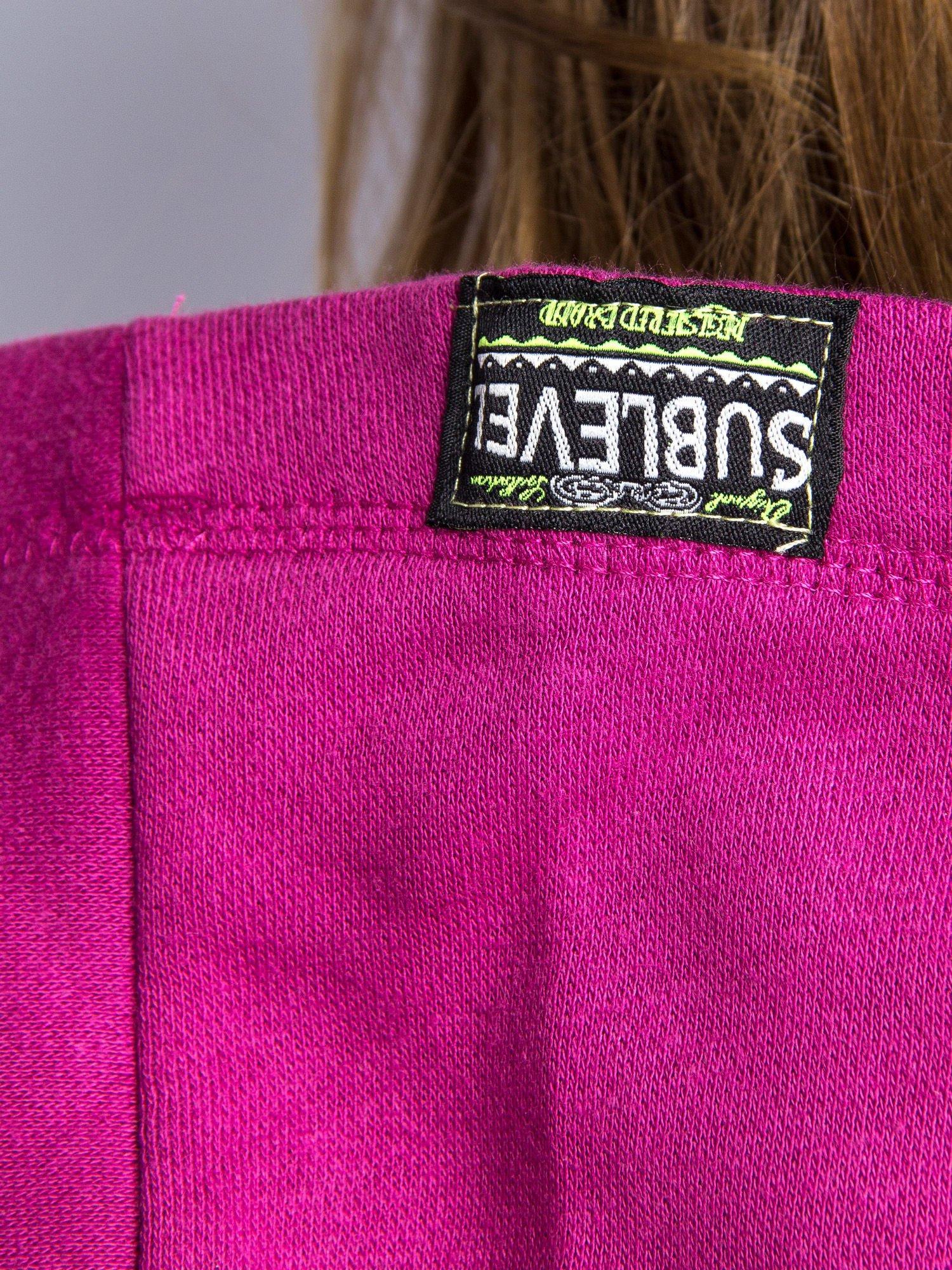 Różowa dresowa bluza sportowa z kapturem                                  zdj.                                  9