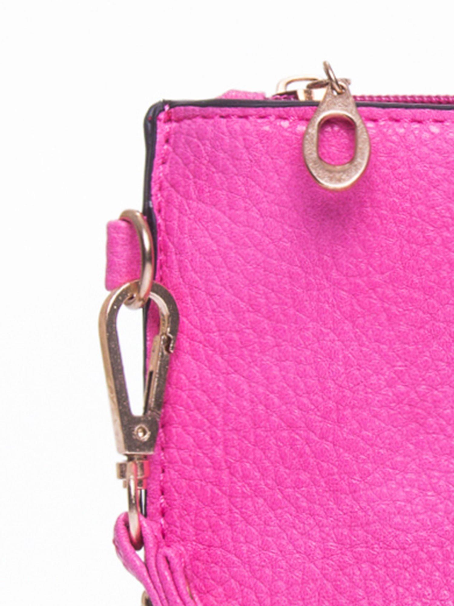 Różowa prosta przewieszana torebka z uchwytem                                  zdj.                                  7