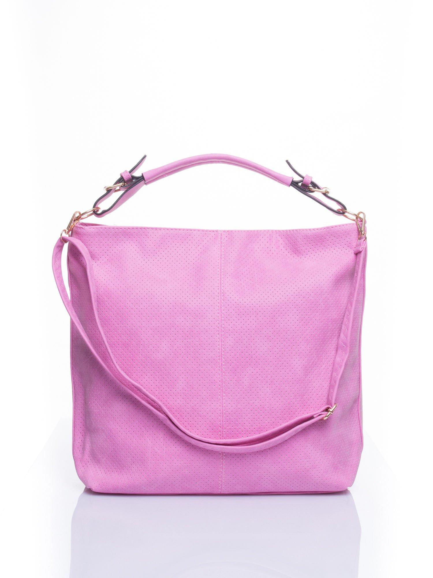 Różowa siateczkowa torba hobo                                  zdj.                                  1