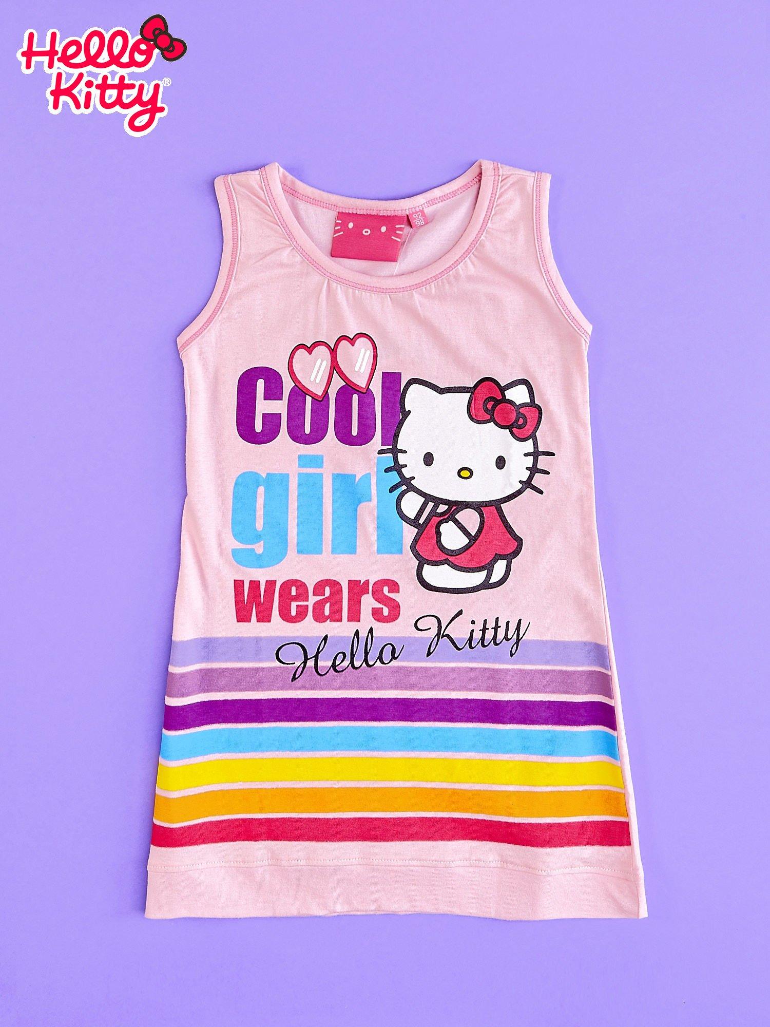 00a3070f04 Różowa sukienka bez rękawów dla dziewczynki HELLO KITTY - Dziecko ...